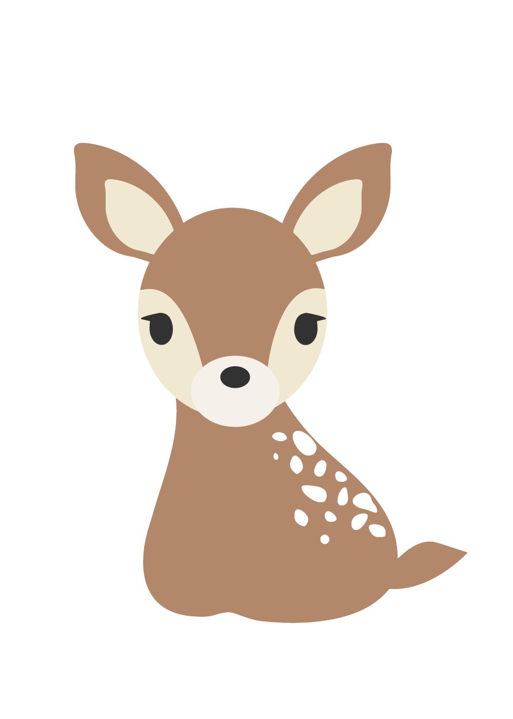 Køb Sweet deer plakat