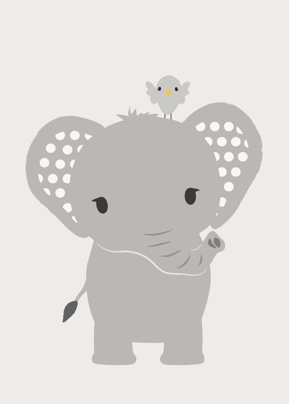 Køb Sweet elephant plakat