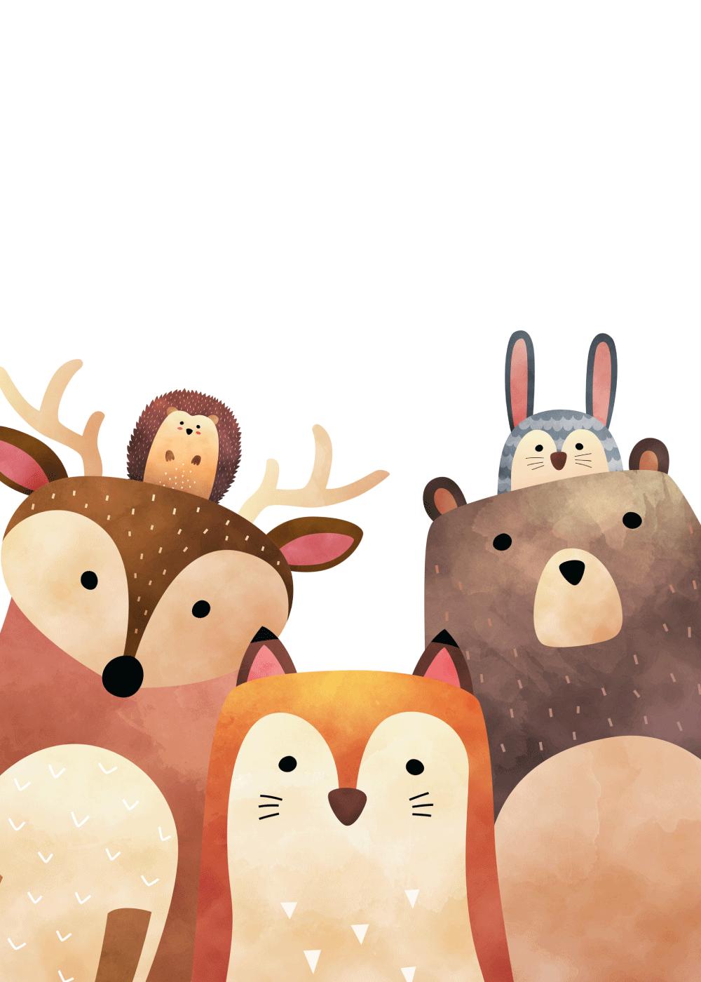 Køb Skovens dyr plakat