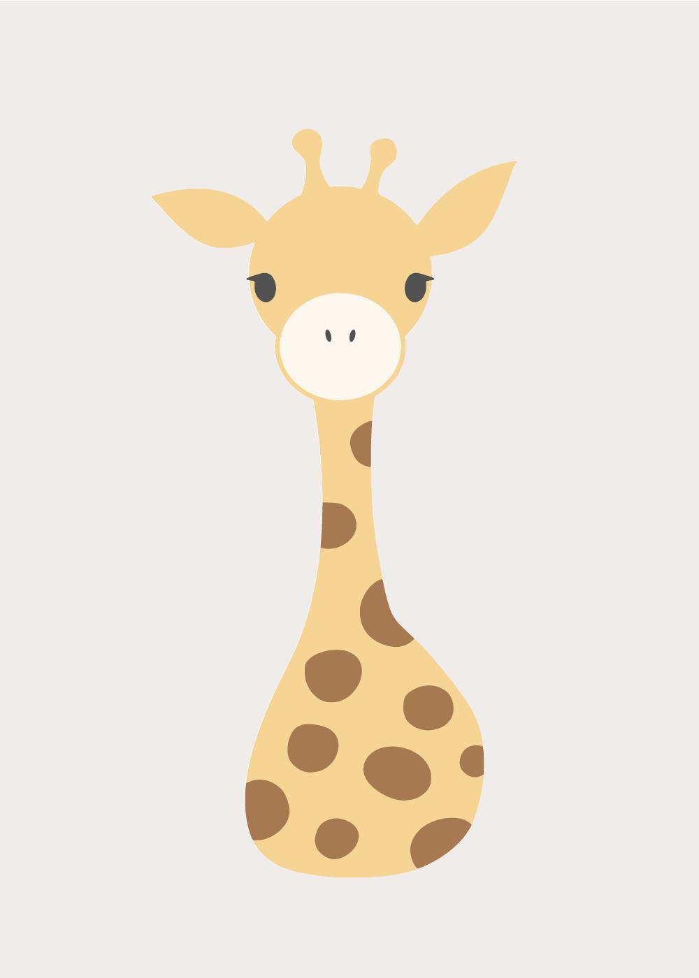 Køb Sweet giraf plakat
