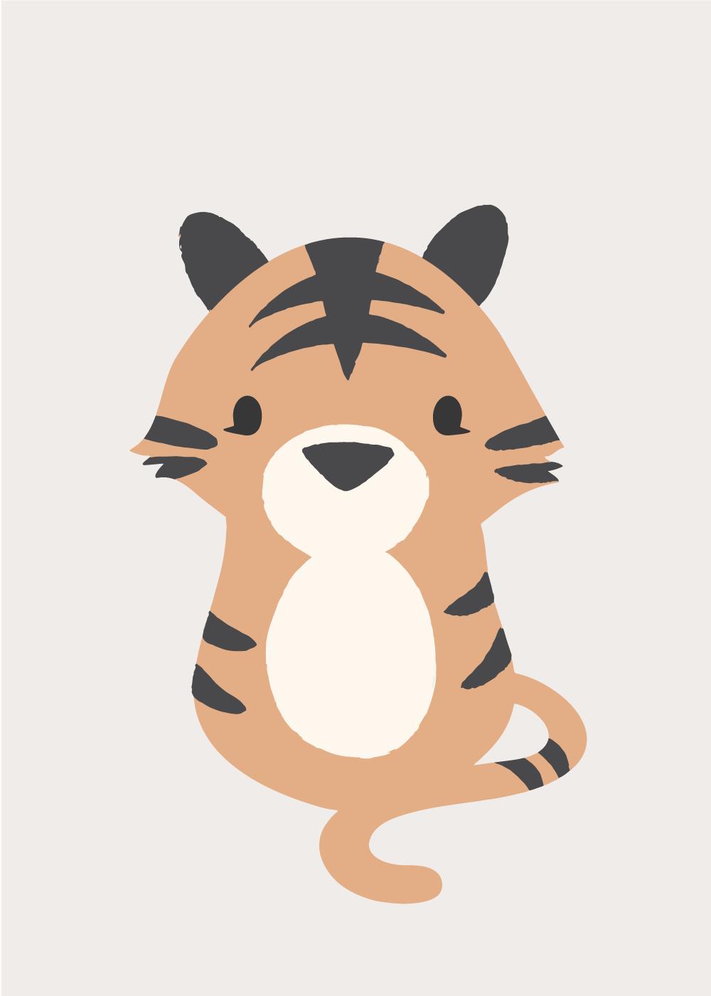Køb Sweet tiger plakat