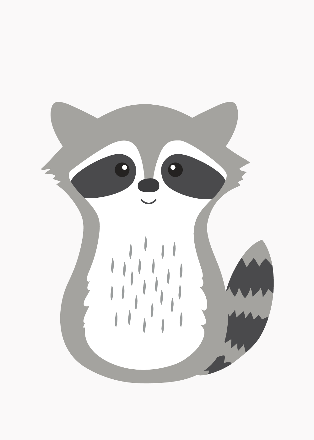 Køb Sweet raccoon plakat
