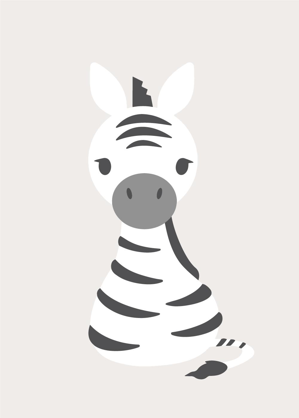 Køb Sweet zebra plakat