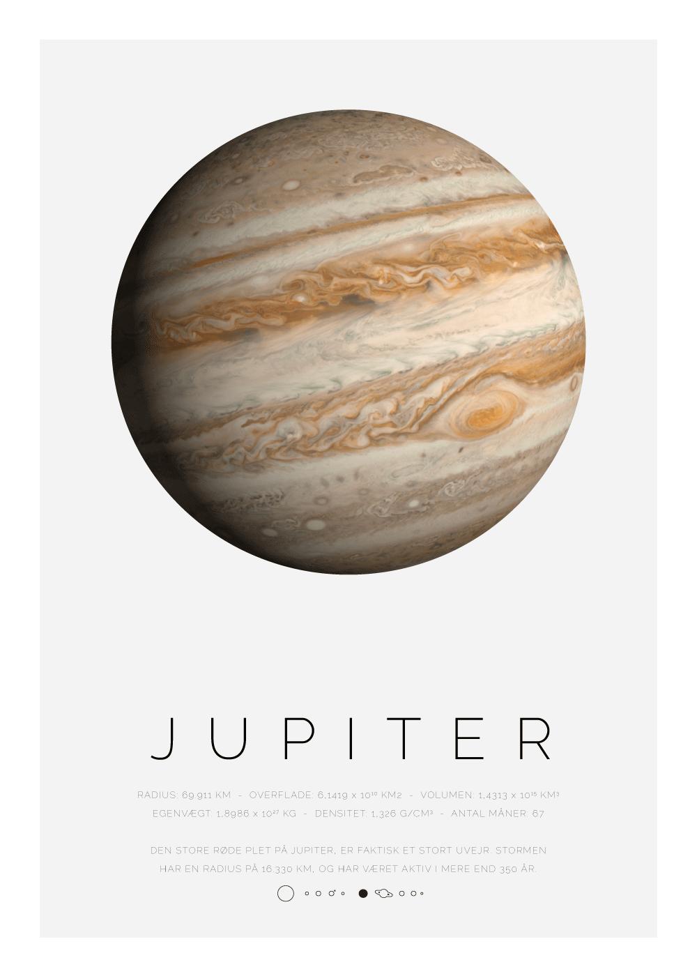 Billede af Jupiter - Planet plakat