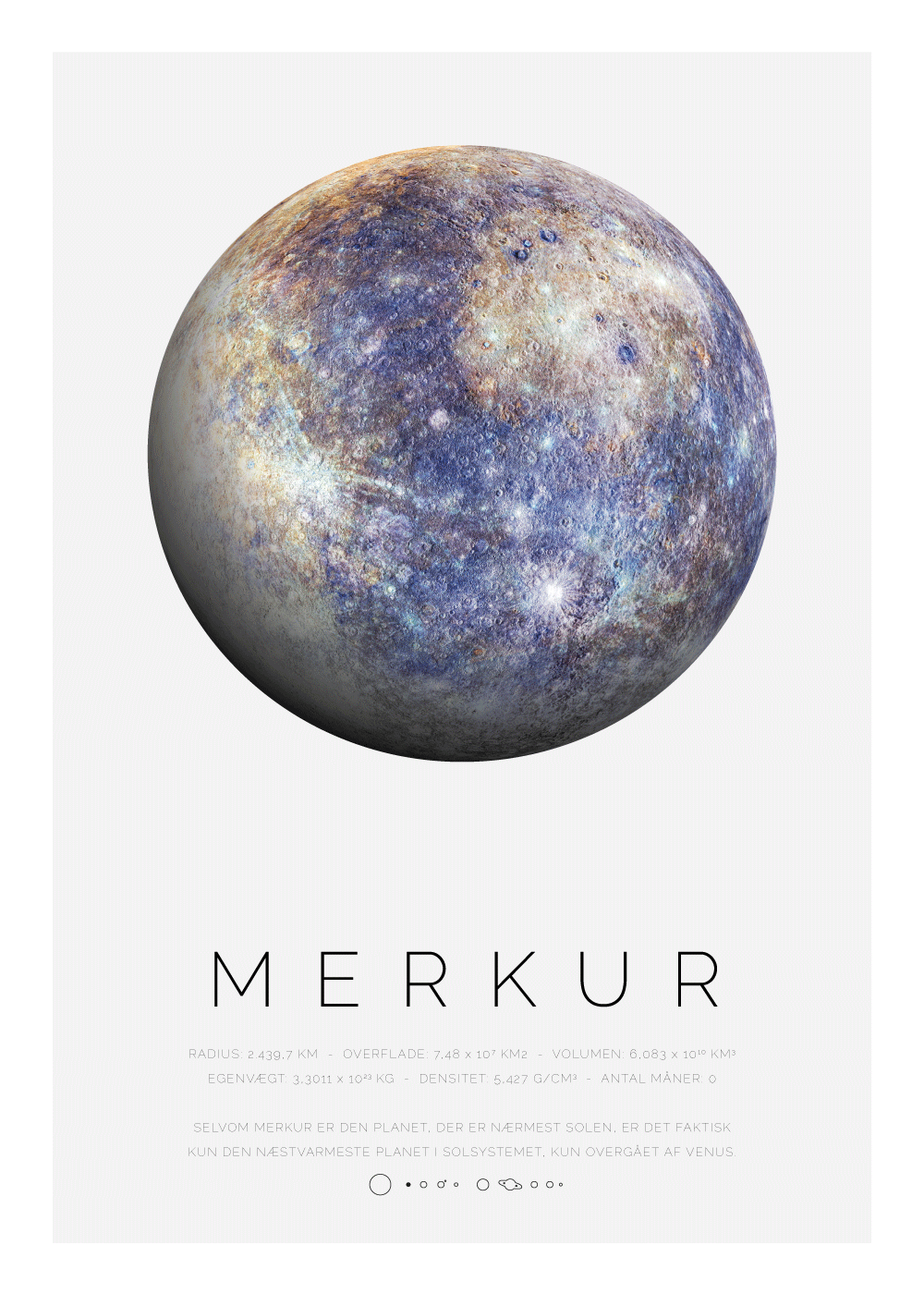 Billede af Merkur - Planet plakat