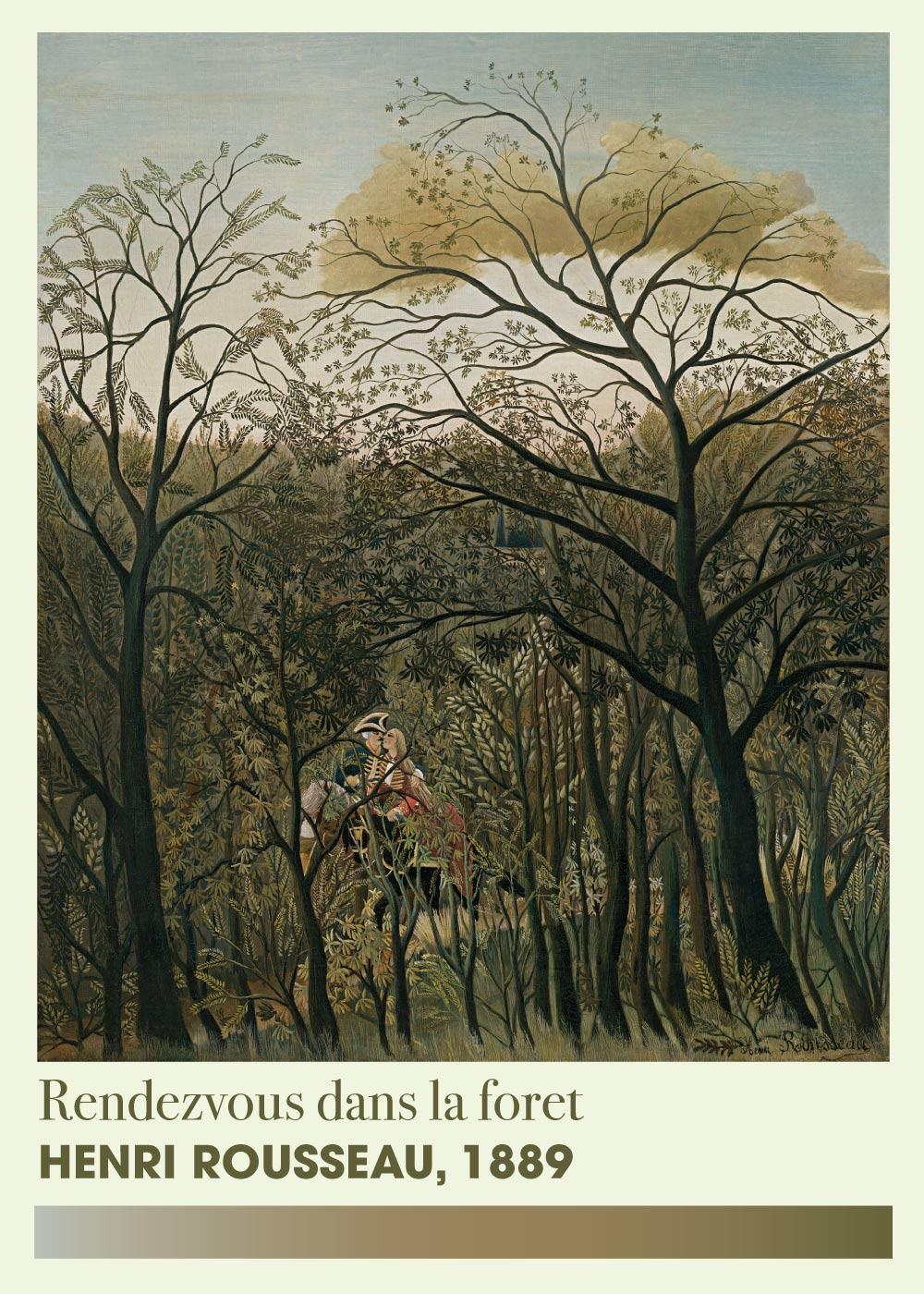 Rendezvous dans le foret - Henri Rousseau