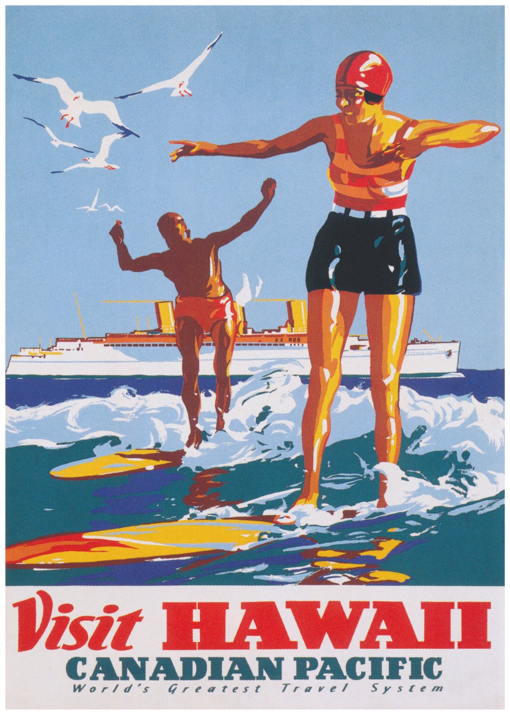 Visit hawaii - Retro plakat