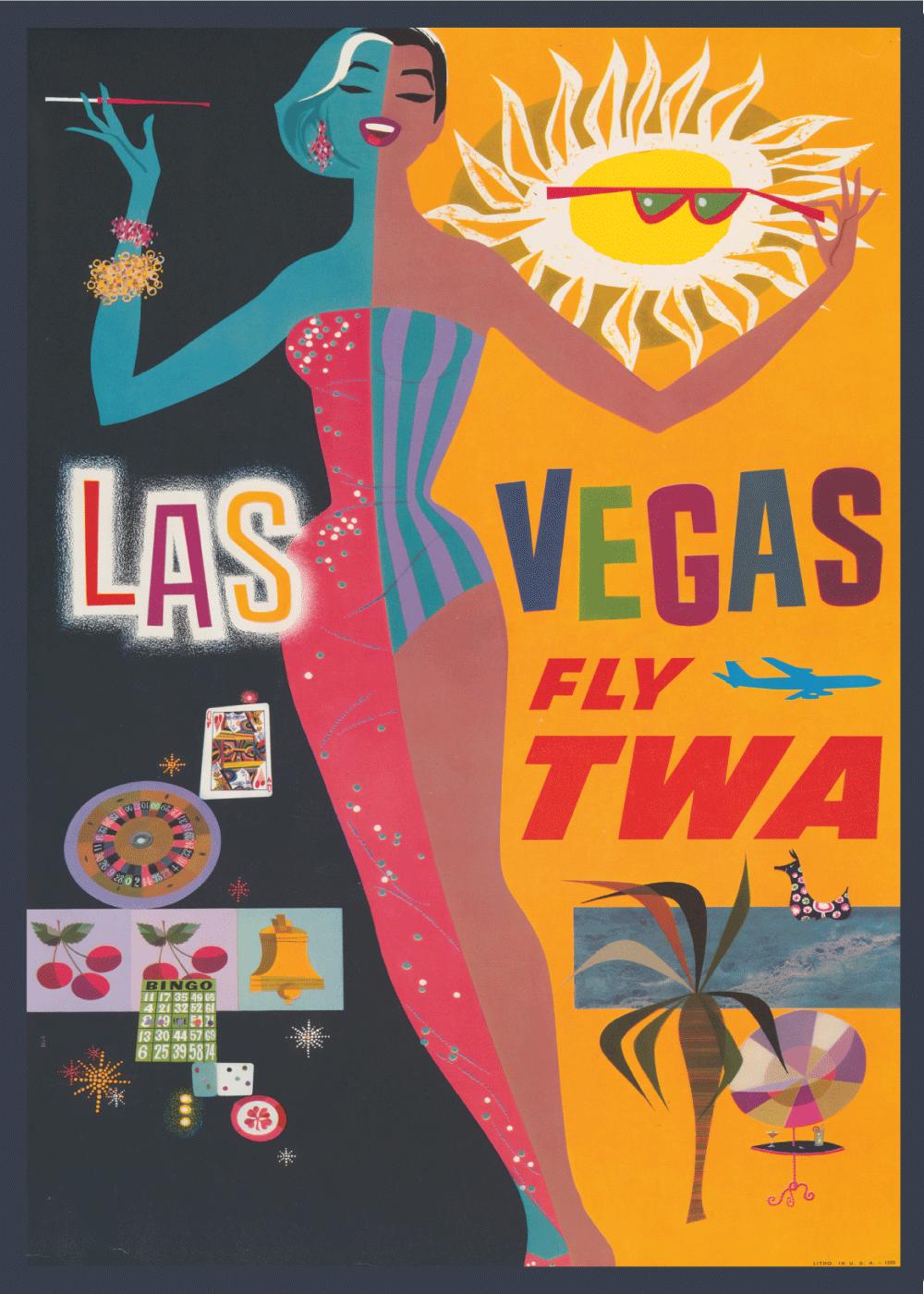 Billede af Las Vegas - Retro plakat