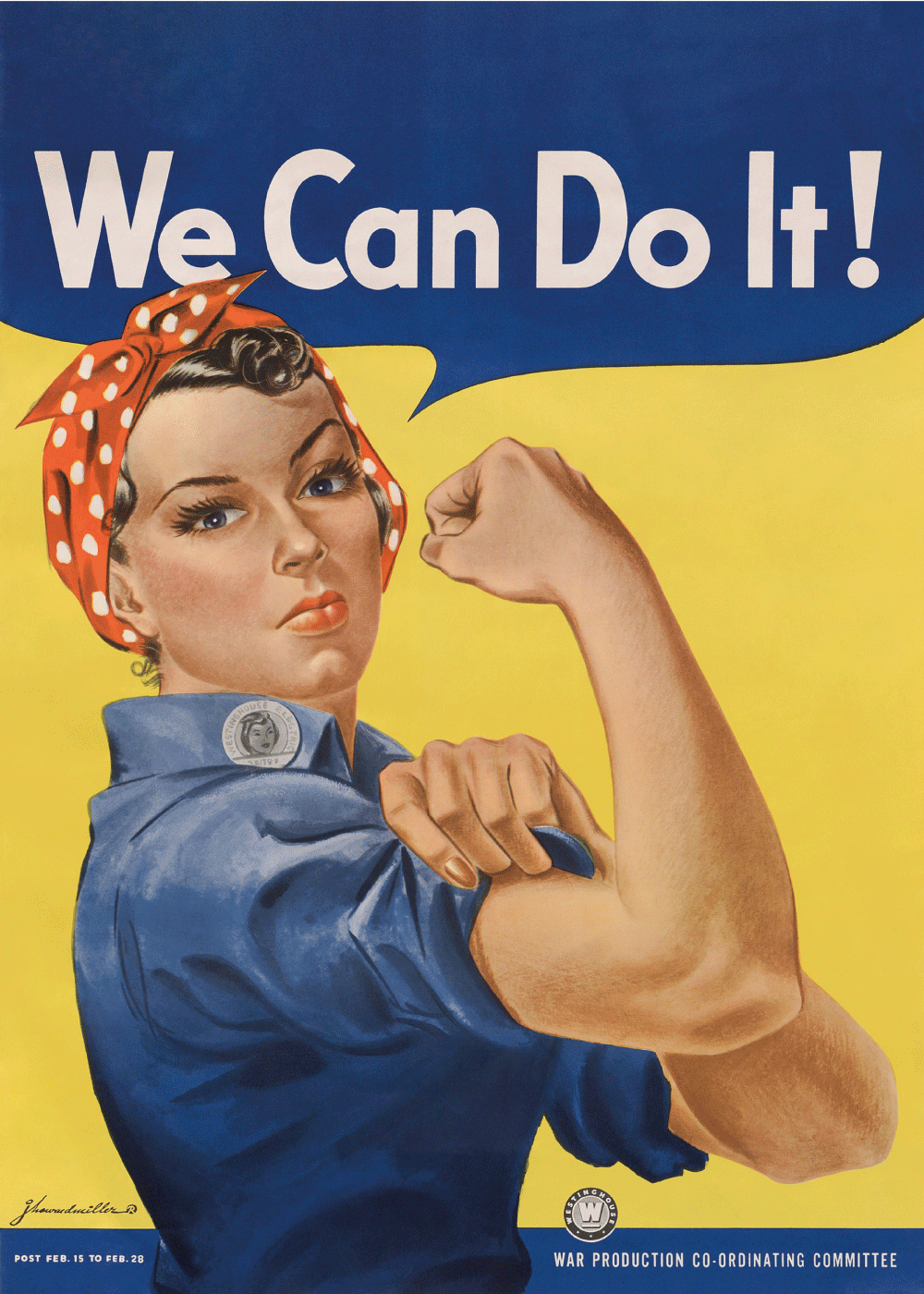 We can do it - Retro plakat