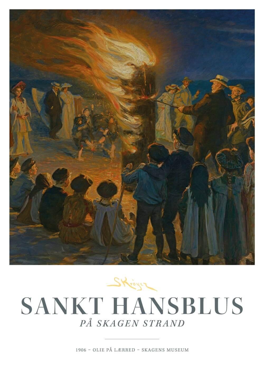 Sankt Hansblus - P.S. Krøyer plakat