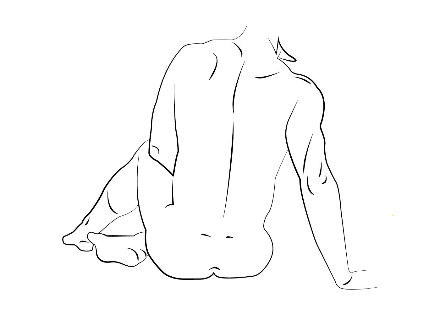 Billede af The sitting - Body positivity plakat
