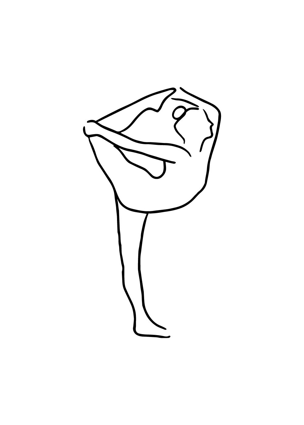 Yoga pose No 4 plakat