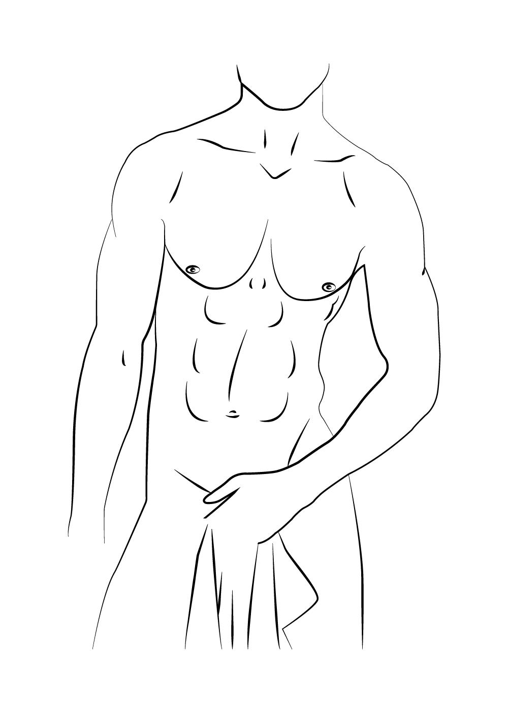 Billede af Natural male body - Body positivity plakat