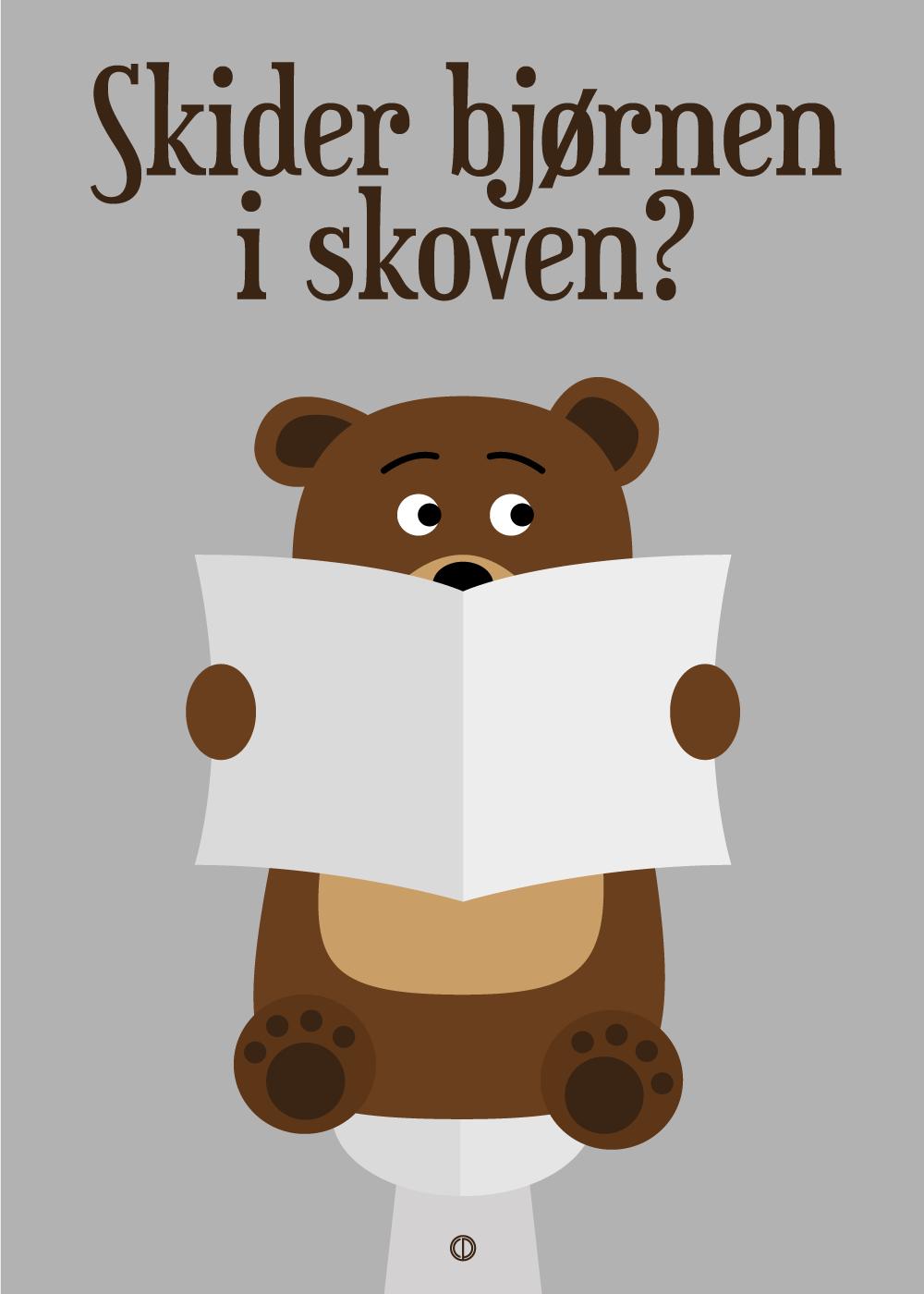 Køb Skider bjørnen i skoven?