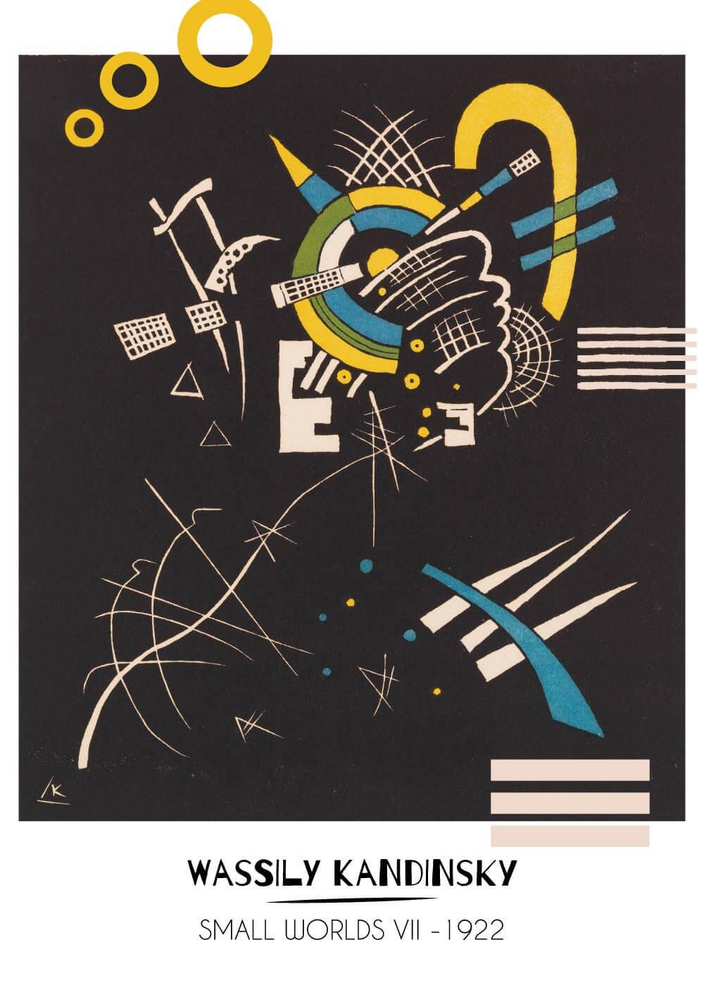 Billede af Small worlds Vll - Wassily Kandinsky