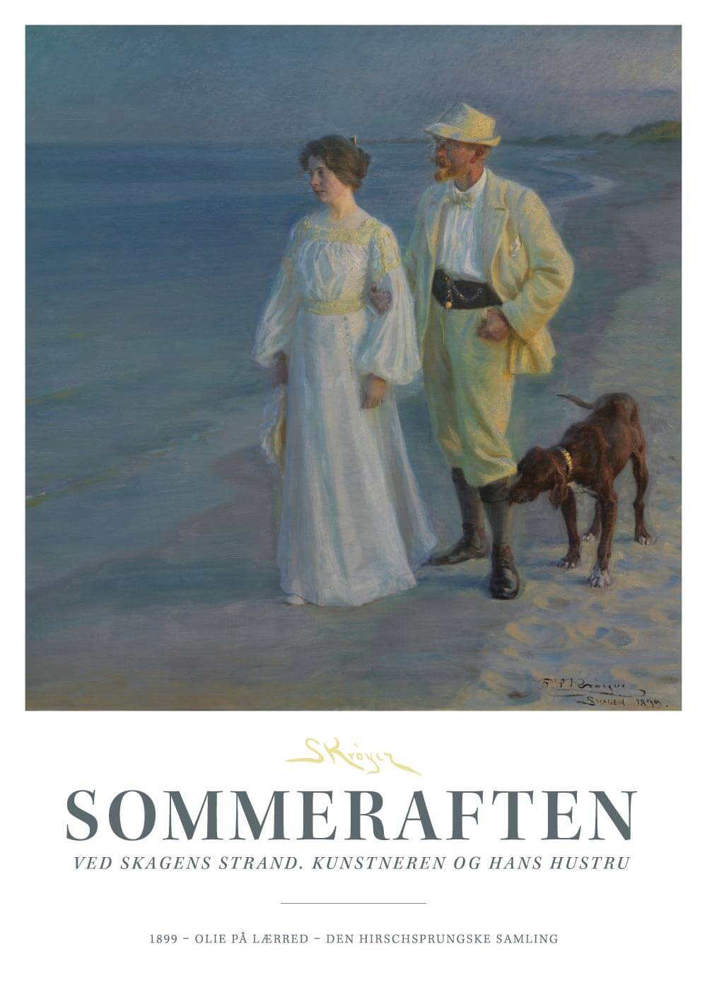 Billede af Sommeraften ved Skagens strand - P.S. Krøyer plakat