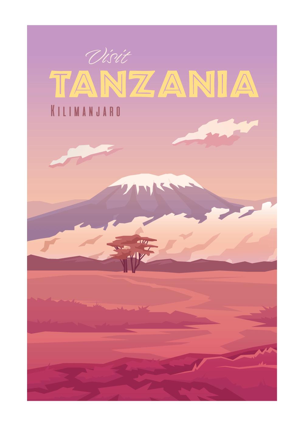 Visit Tanzania - rejse plakat
