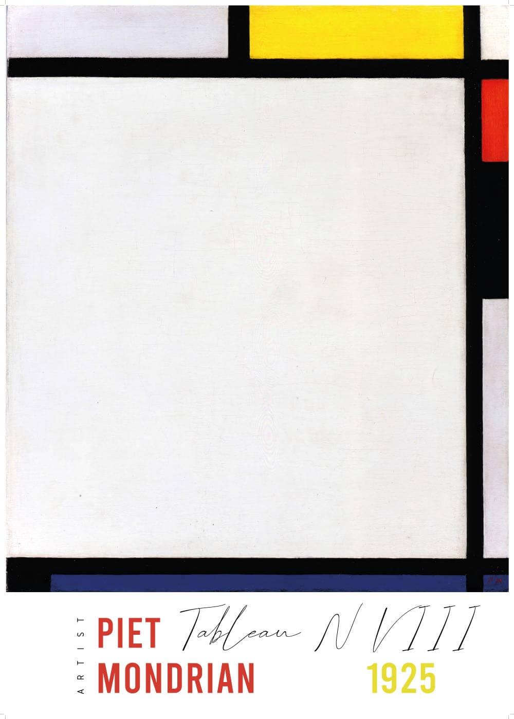 Billede af Tablean N VllI - Piet Mondrian