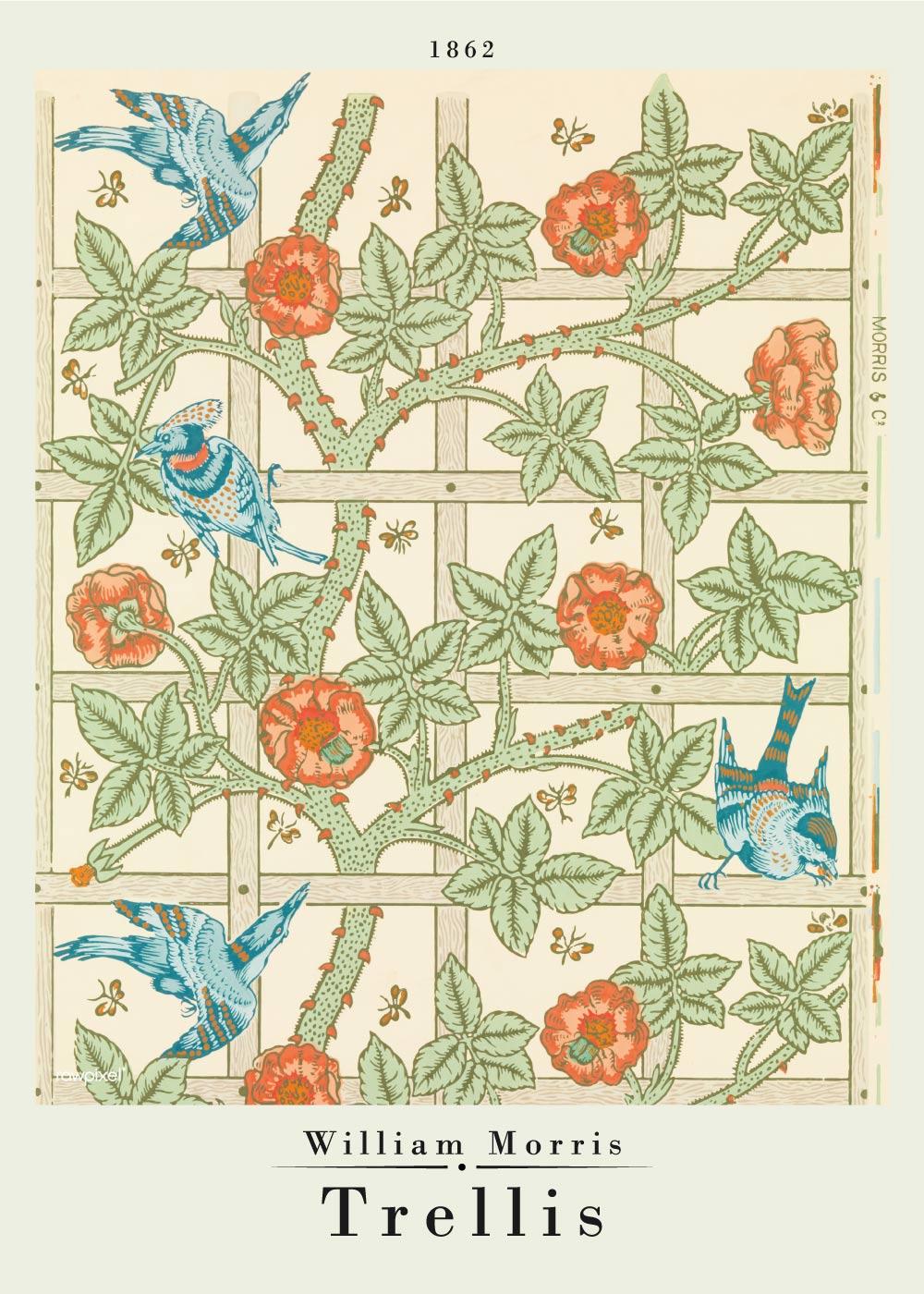 Billede af Trellis - William Morris kunstplakat
