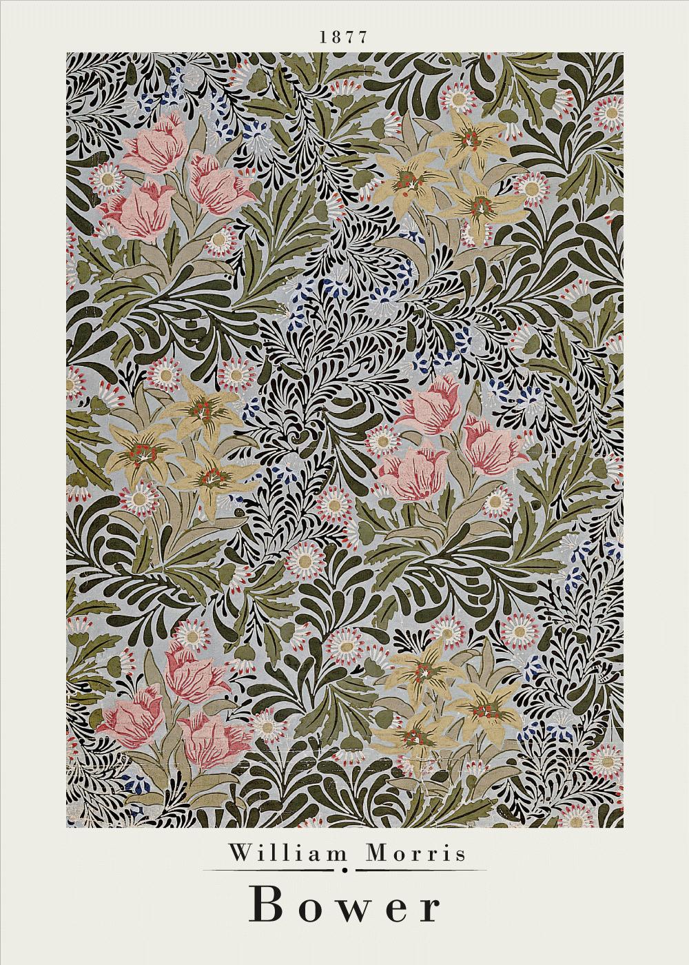 Billede af Bower - William Morris kunstplakat