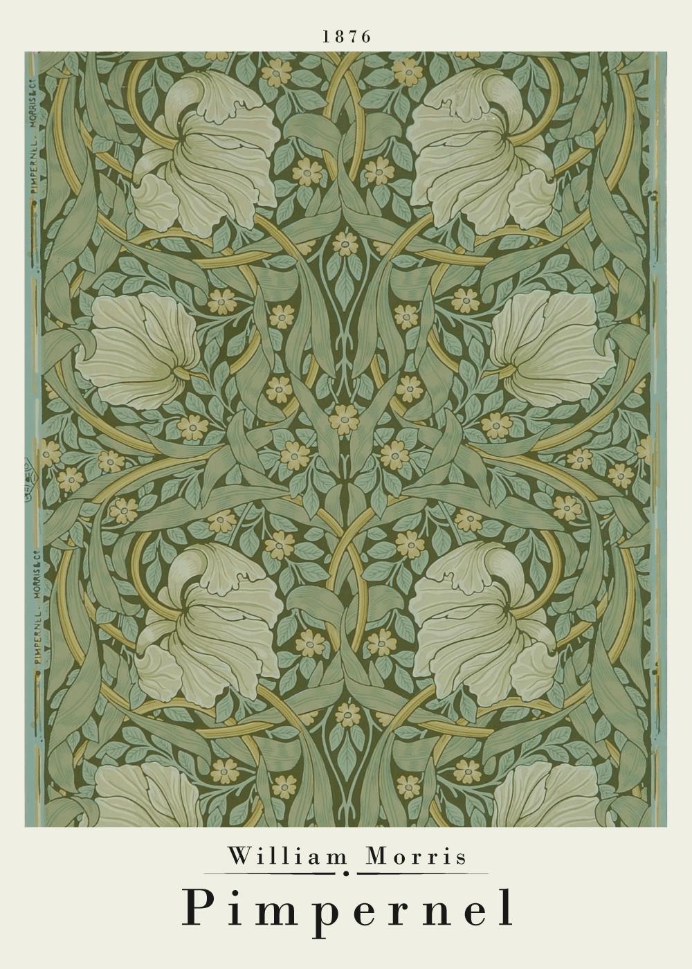 Billede af Pimpernel - William Morris kunstplakat
