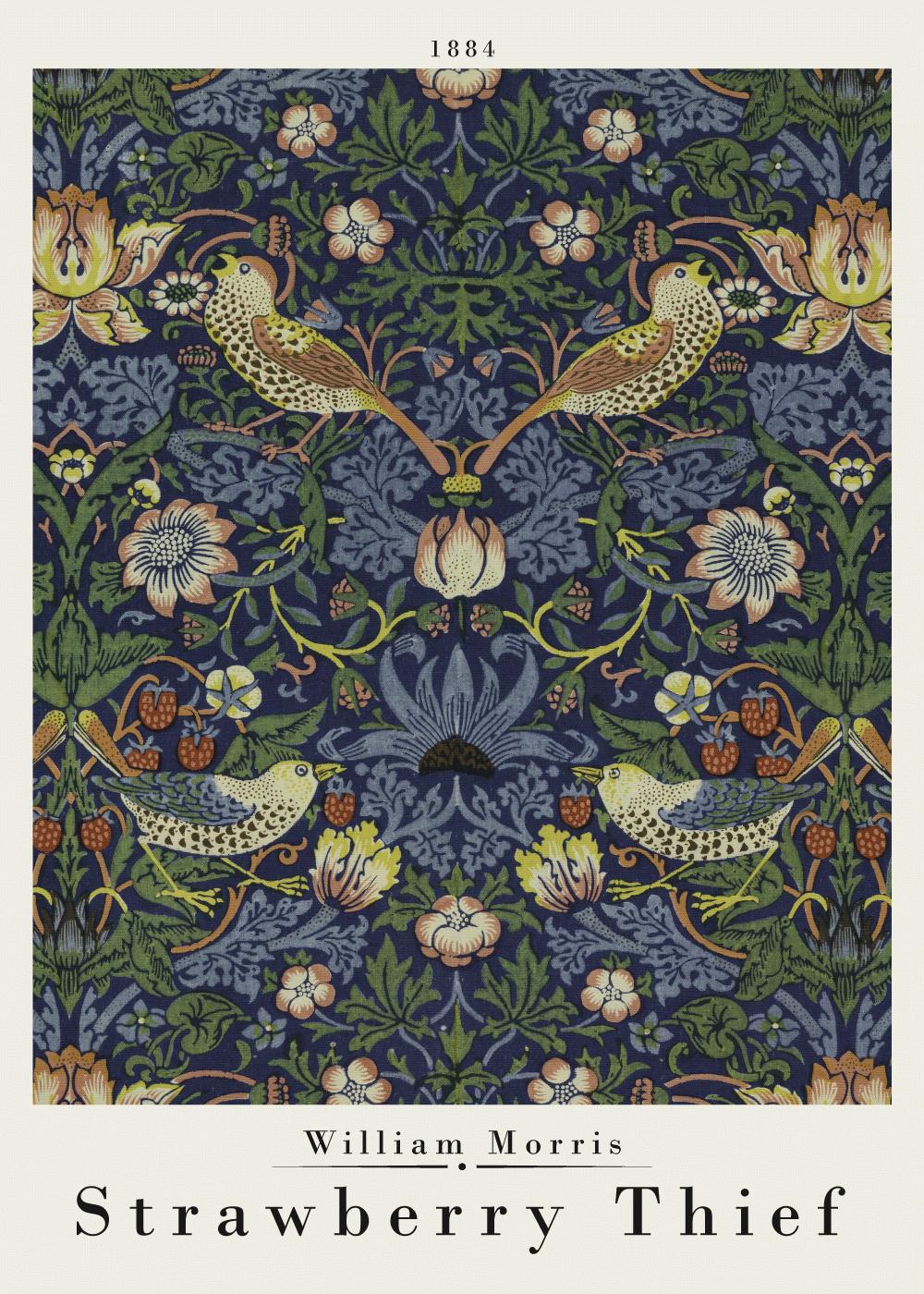Billede af Strawberry Thief - William Morris kunstplakat