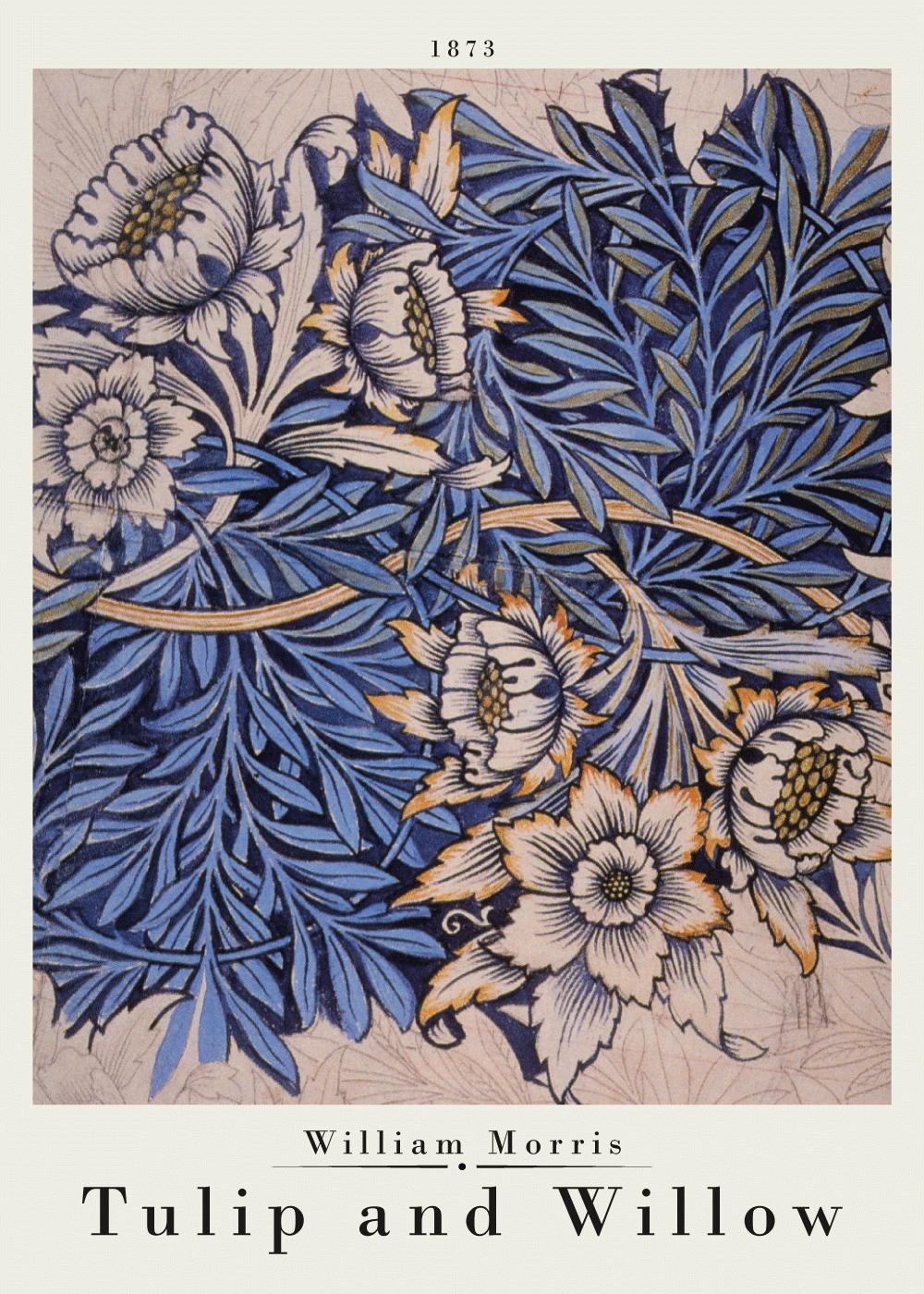 Billede af Tulip and willow - William Morris kunstplakat