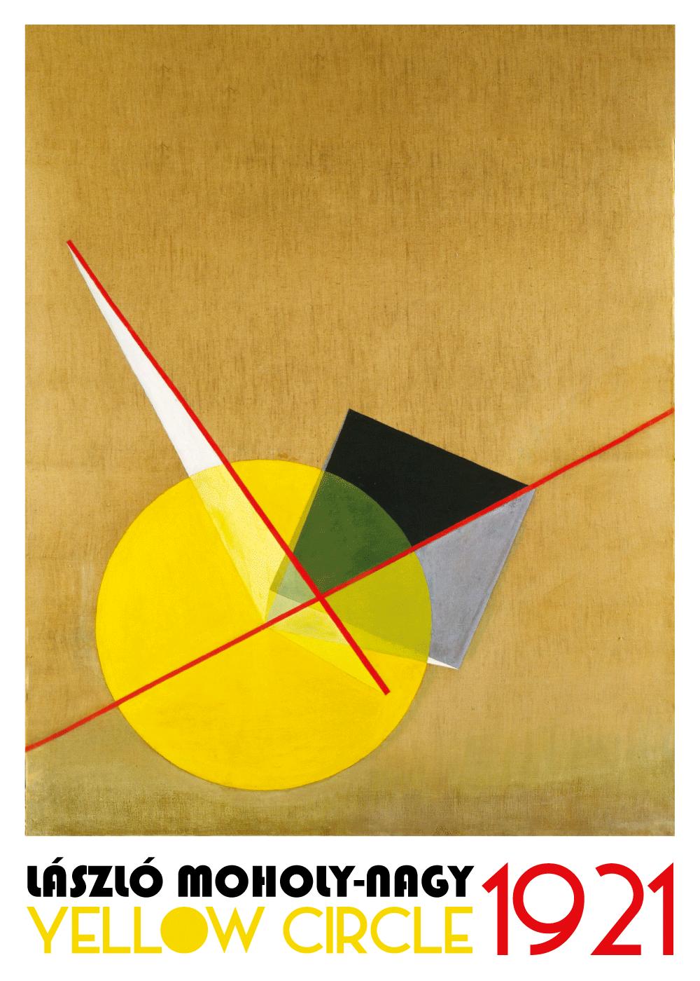 Billede af Yellow Circle Bauhaus - László Moholy-Nagy kunstplakat