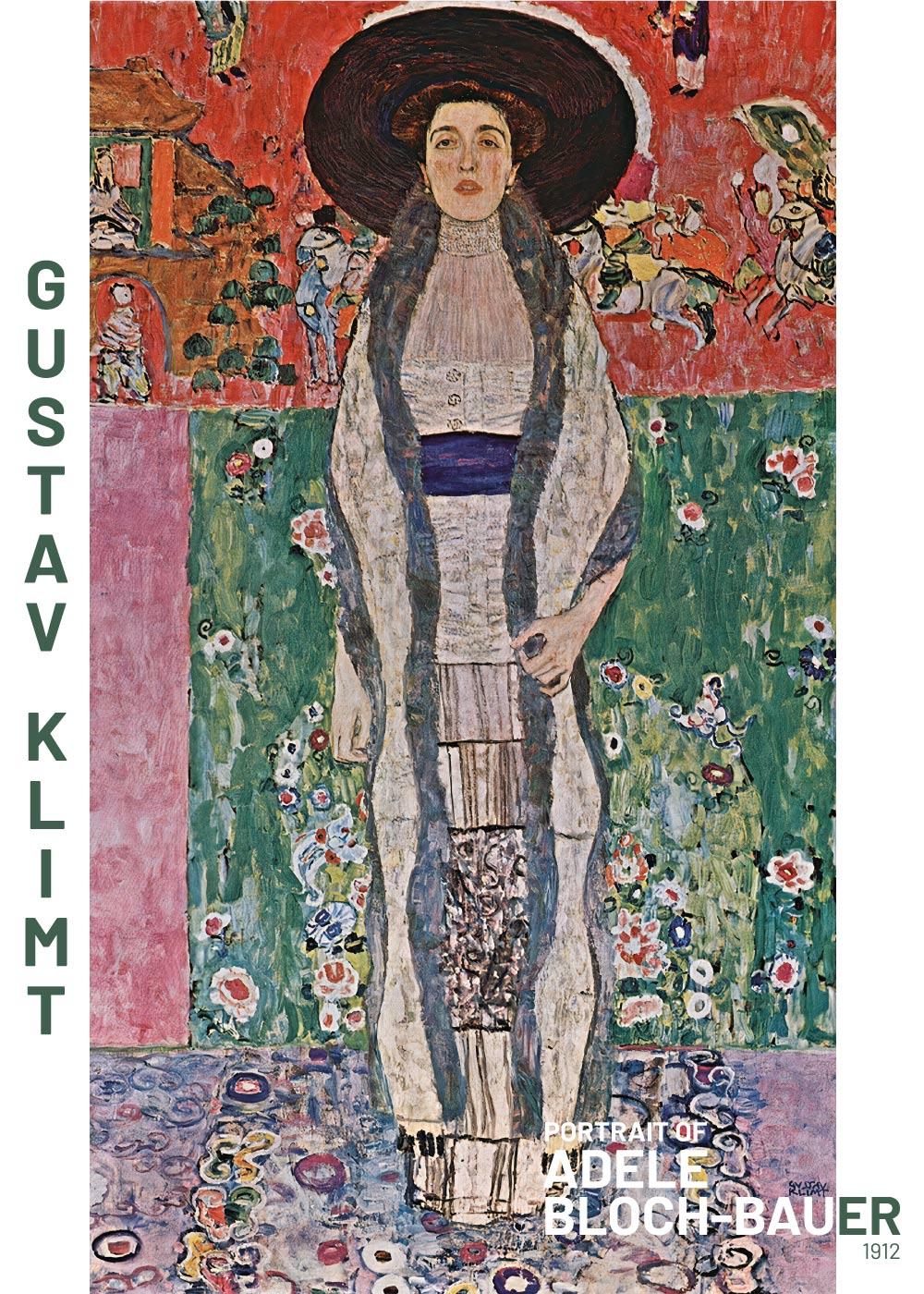 Billede af Portrait of Adele Bloch Bauer - Gustav Klimt