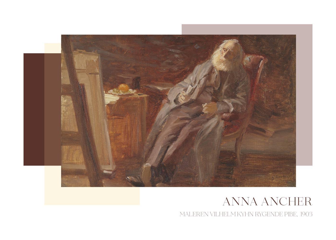 Billede af Maleren Vilhelm Kyhn - Anna Ancher plakat
