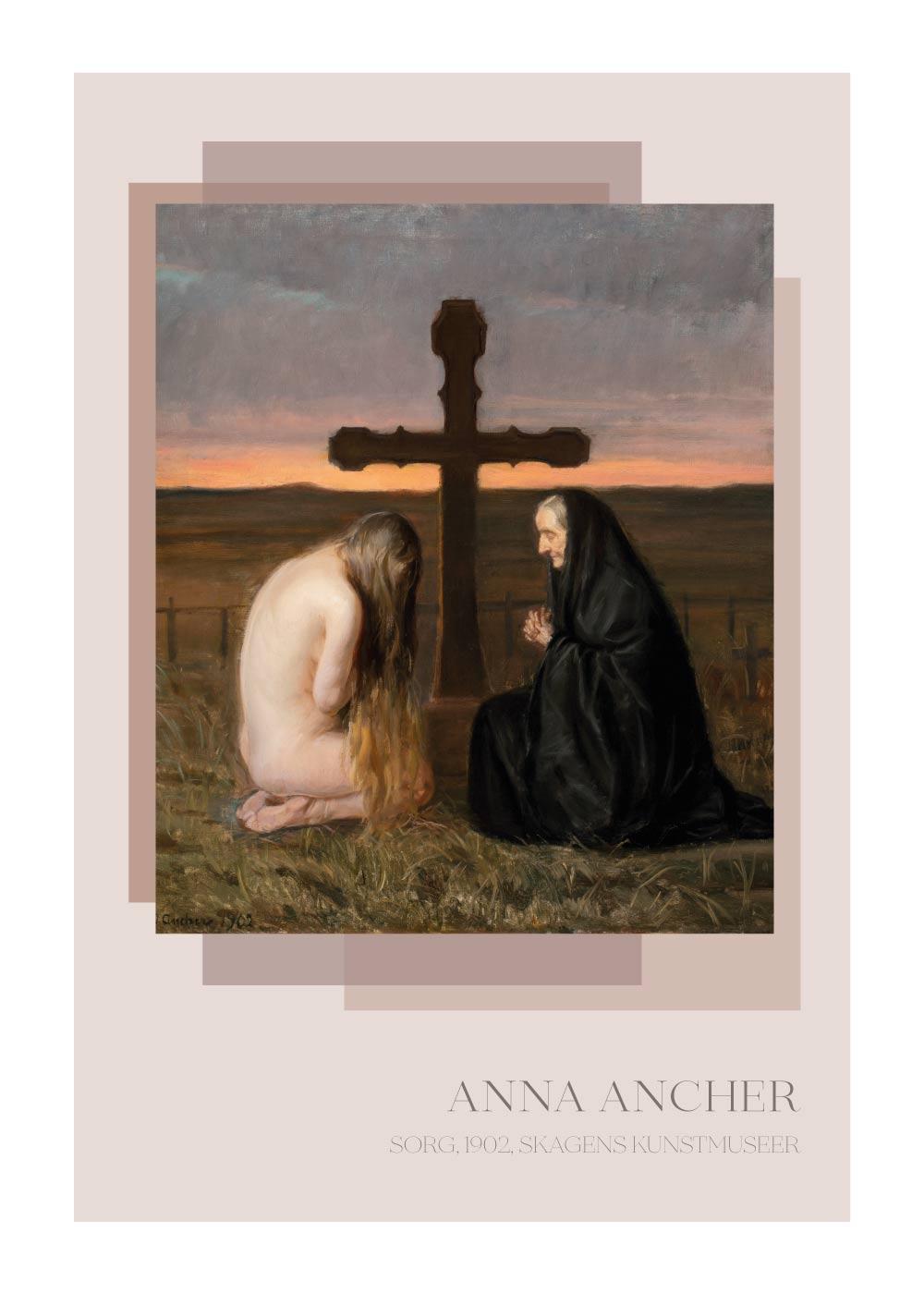 Billede af Sorg - Anna Ancher plakat