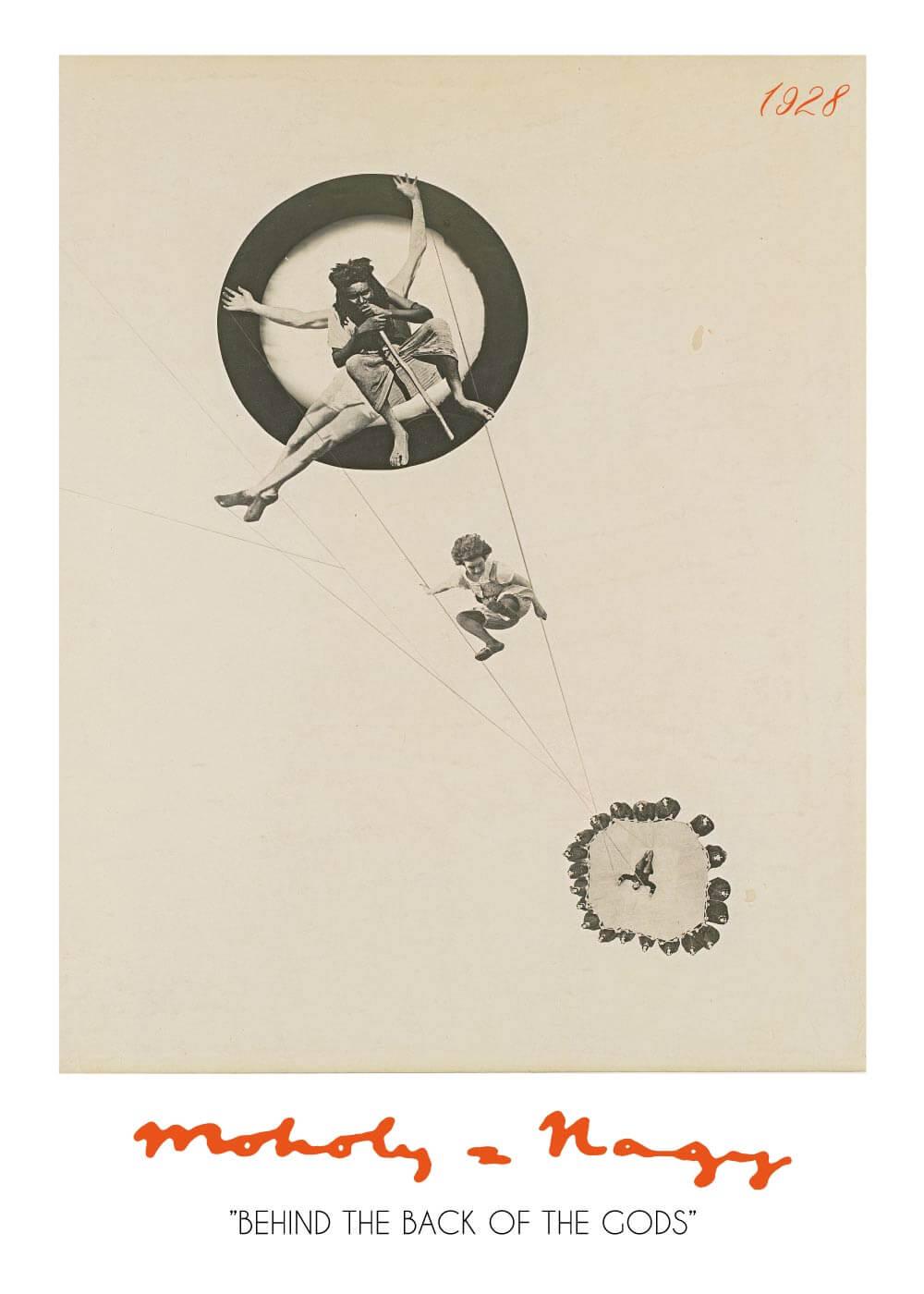 Billede af Behind the back of the gods - László Moholy-Nagy kunstplakat