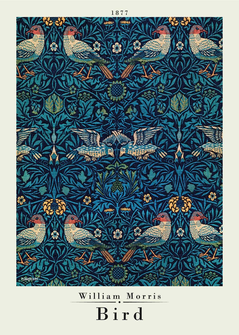 Billede af Bird - William Morris kunstplakat