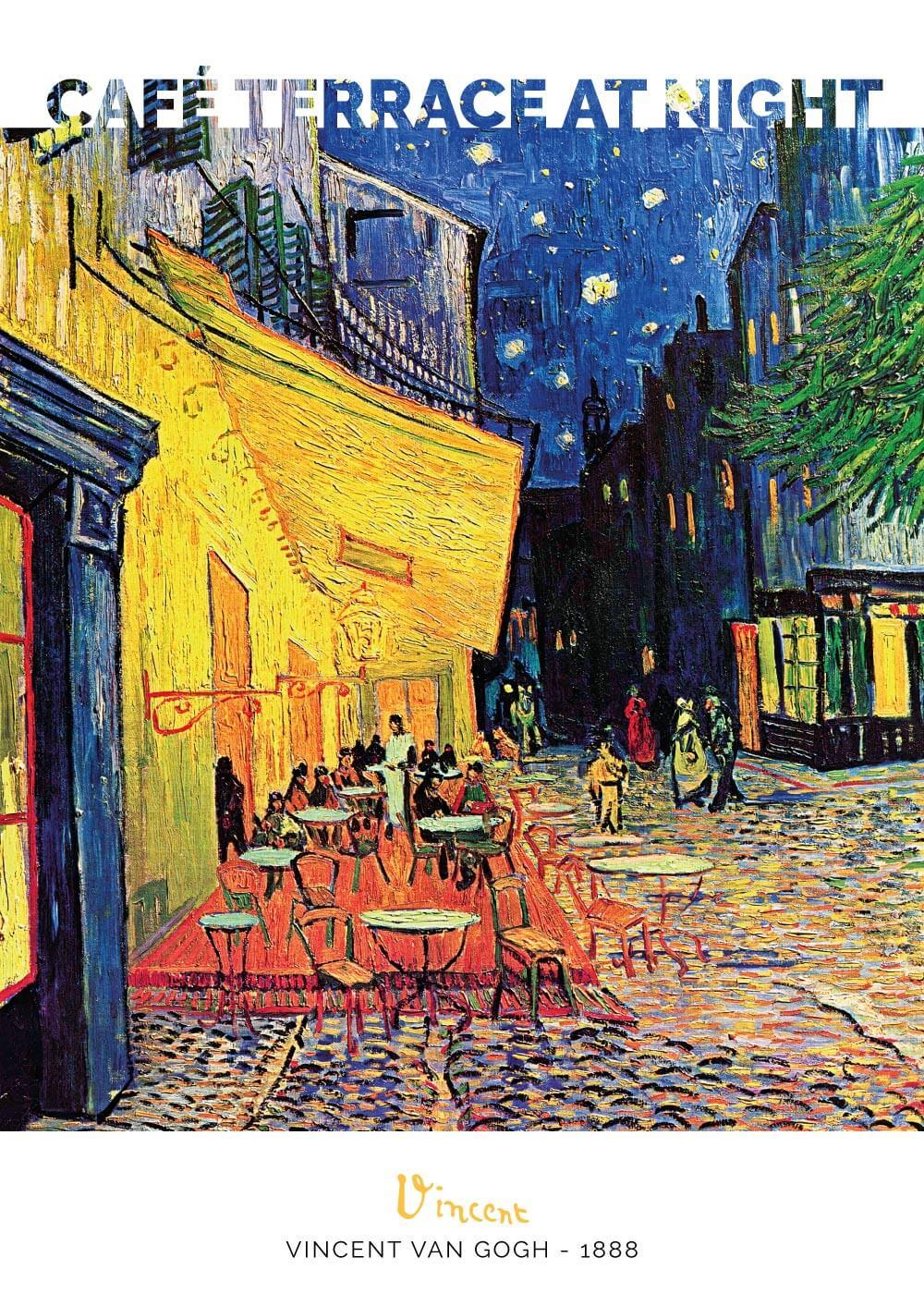 Billede af Café terrace at night - Vincent Van Gogh