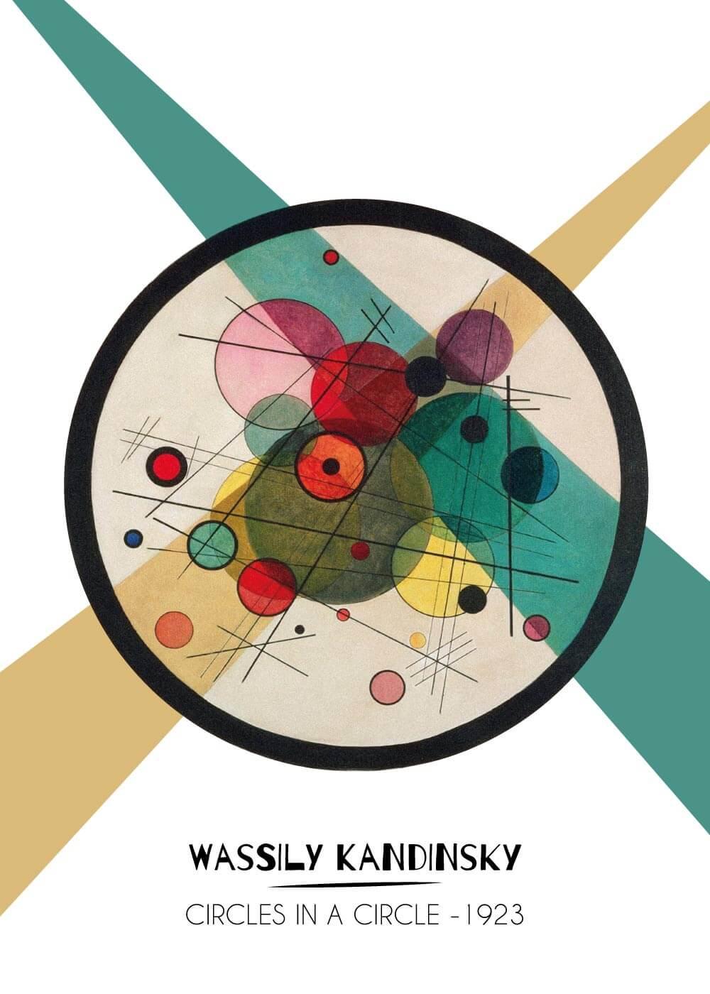 Billede af Circles in a circle - Wassily Kandinsky