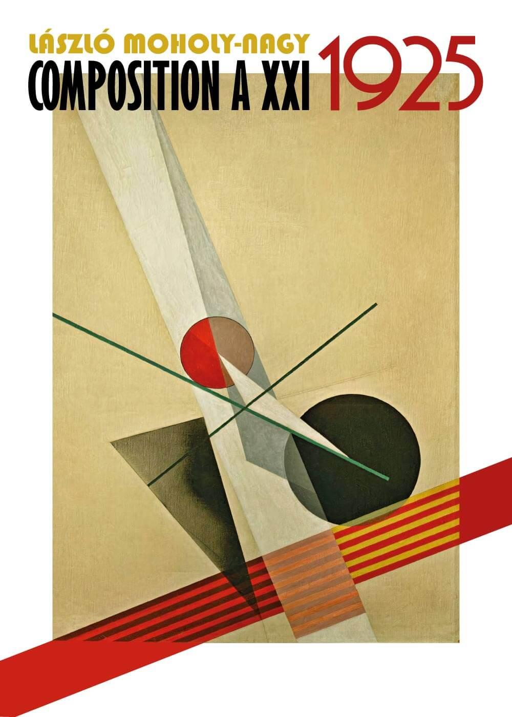 Billede af Composition A XXI - László Moholy-Nagy kunstplakat