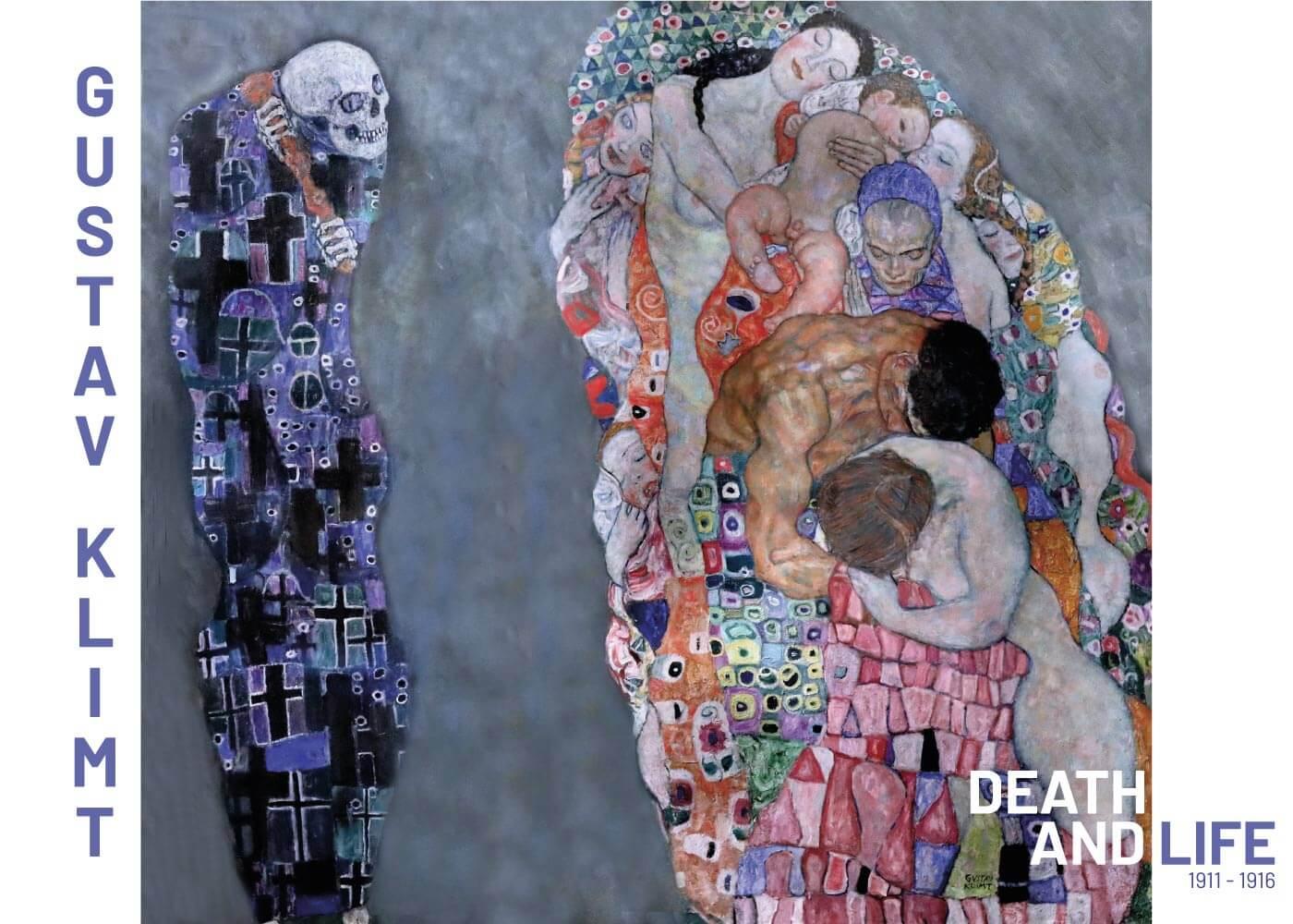 Billede af Death and life - Gustav Klimt