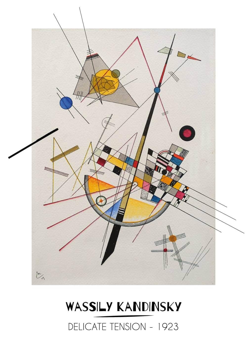 Billede af Delicate tension - Wassily Kandinsky