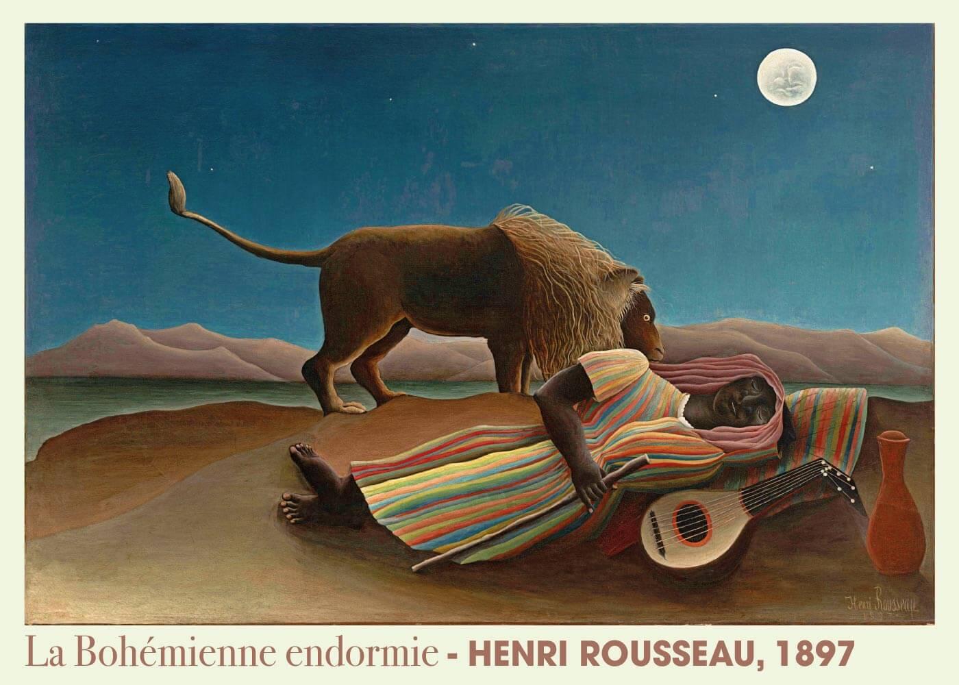 Billede af La Bohémienne endomie - Henri Rousseau