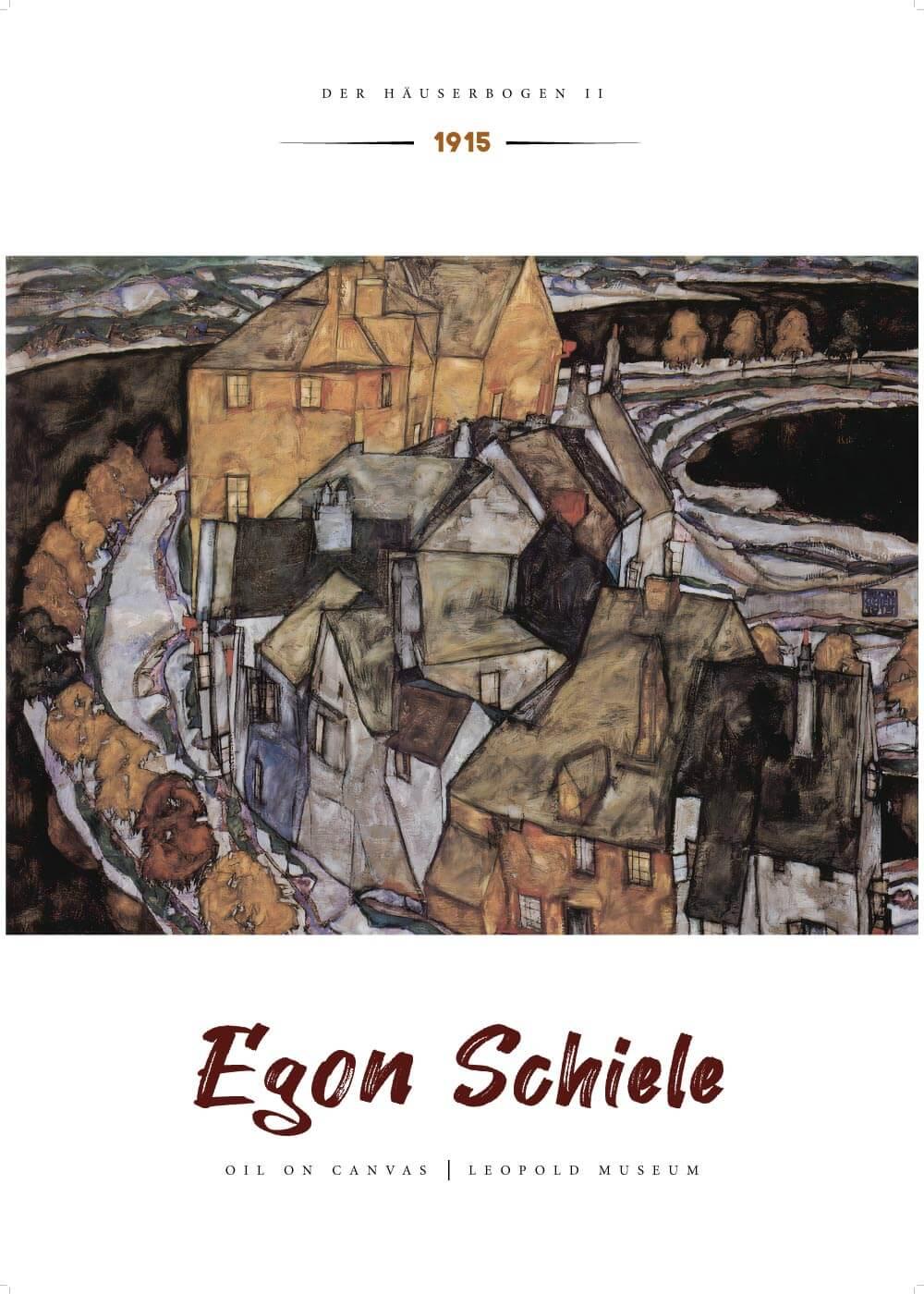 Billede af Der häuserbogen ll - Egon Schiele