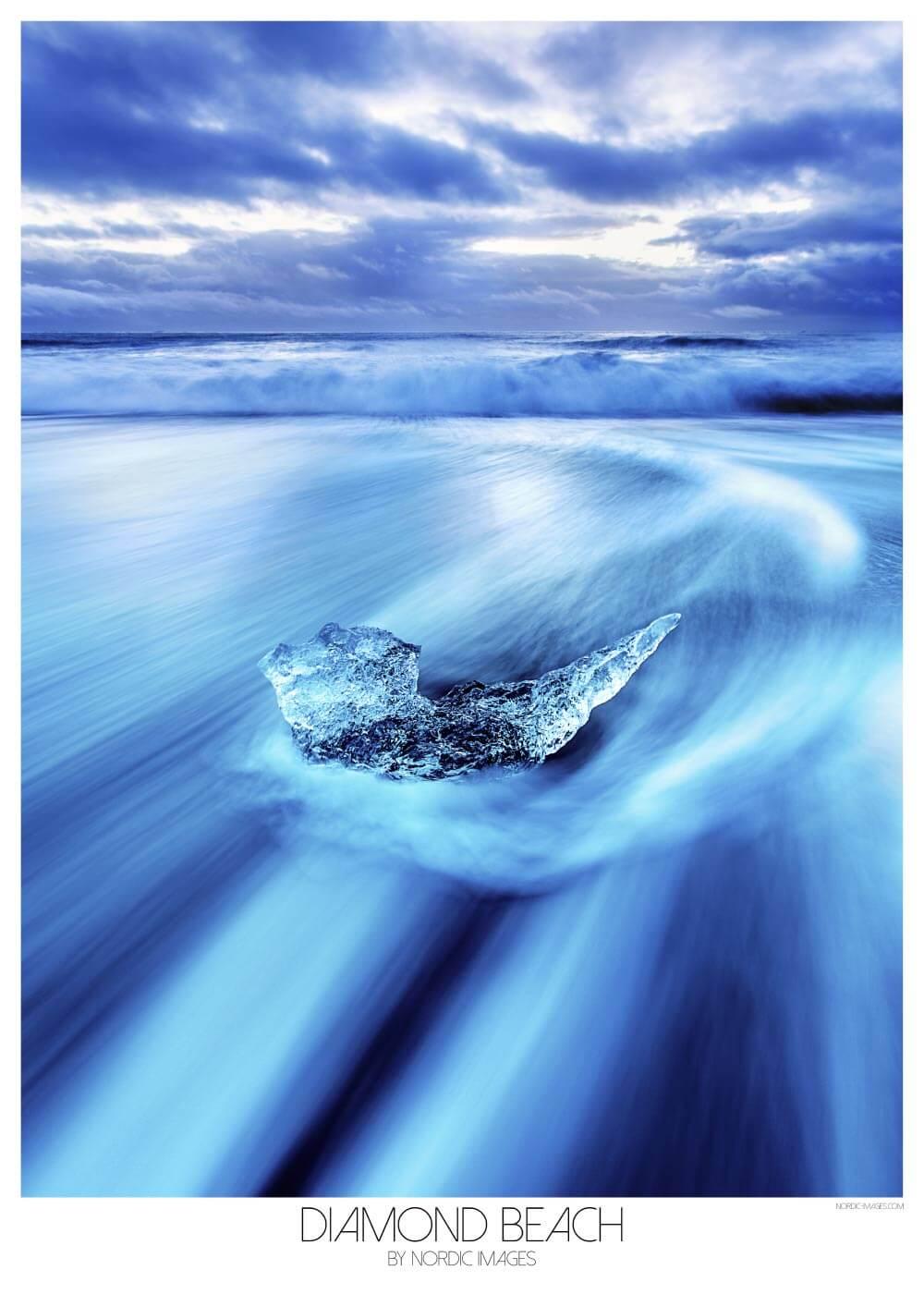 Billede af Diamond beach - Brian Lichtenstein plakat