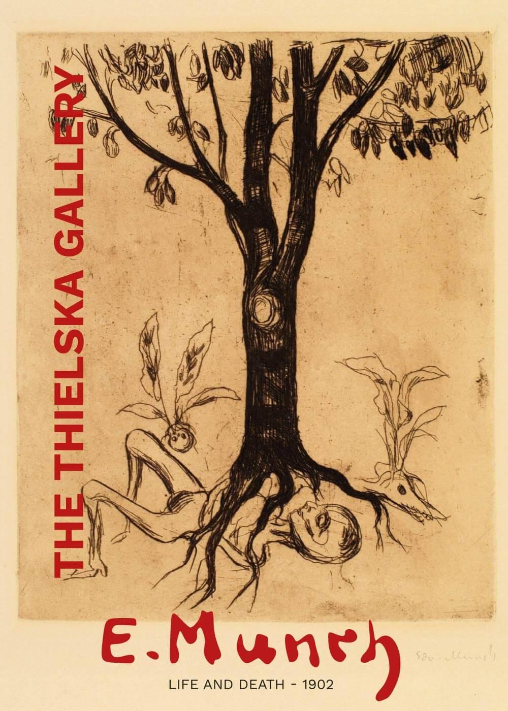 Billede af Life and death - Edvard Munch