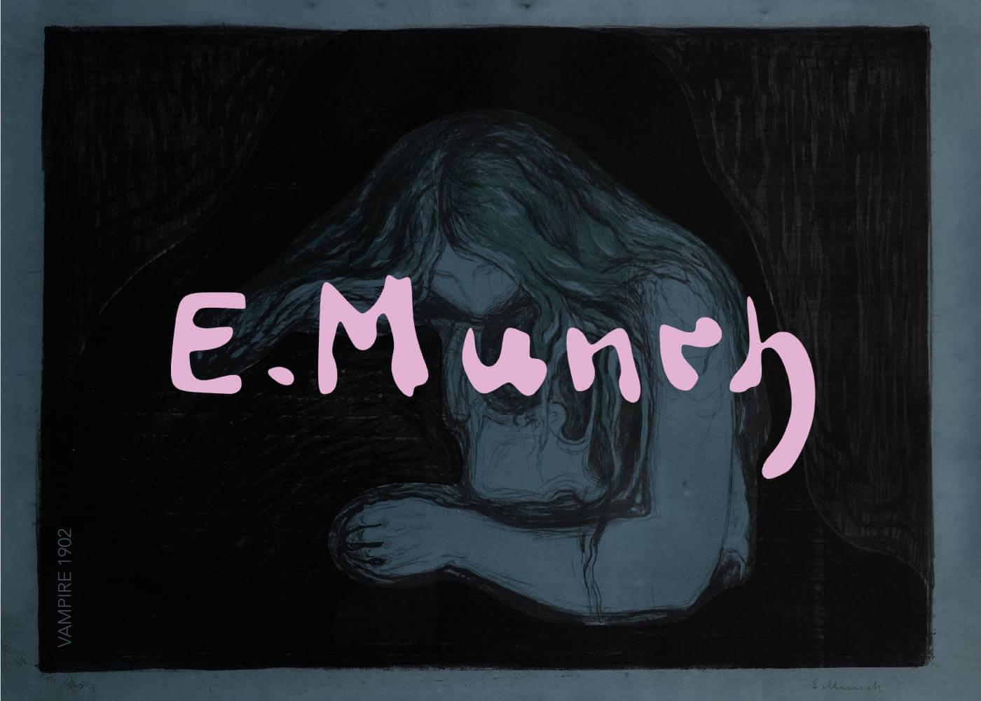 Billede af Vampire - Edvard Munch
