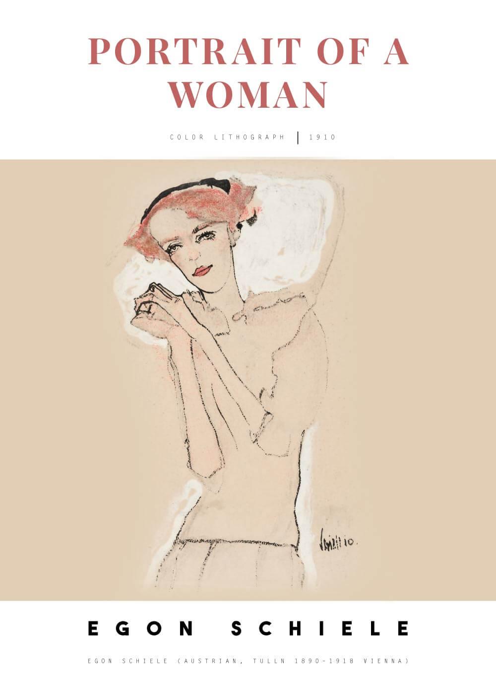Billede af Portrait of a woman ll - Egon Schiele
