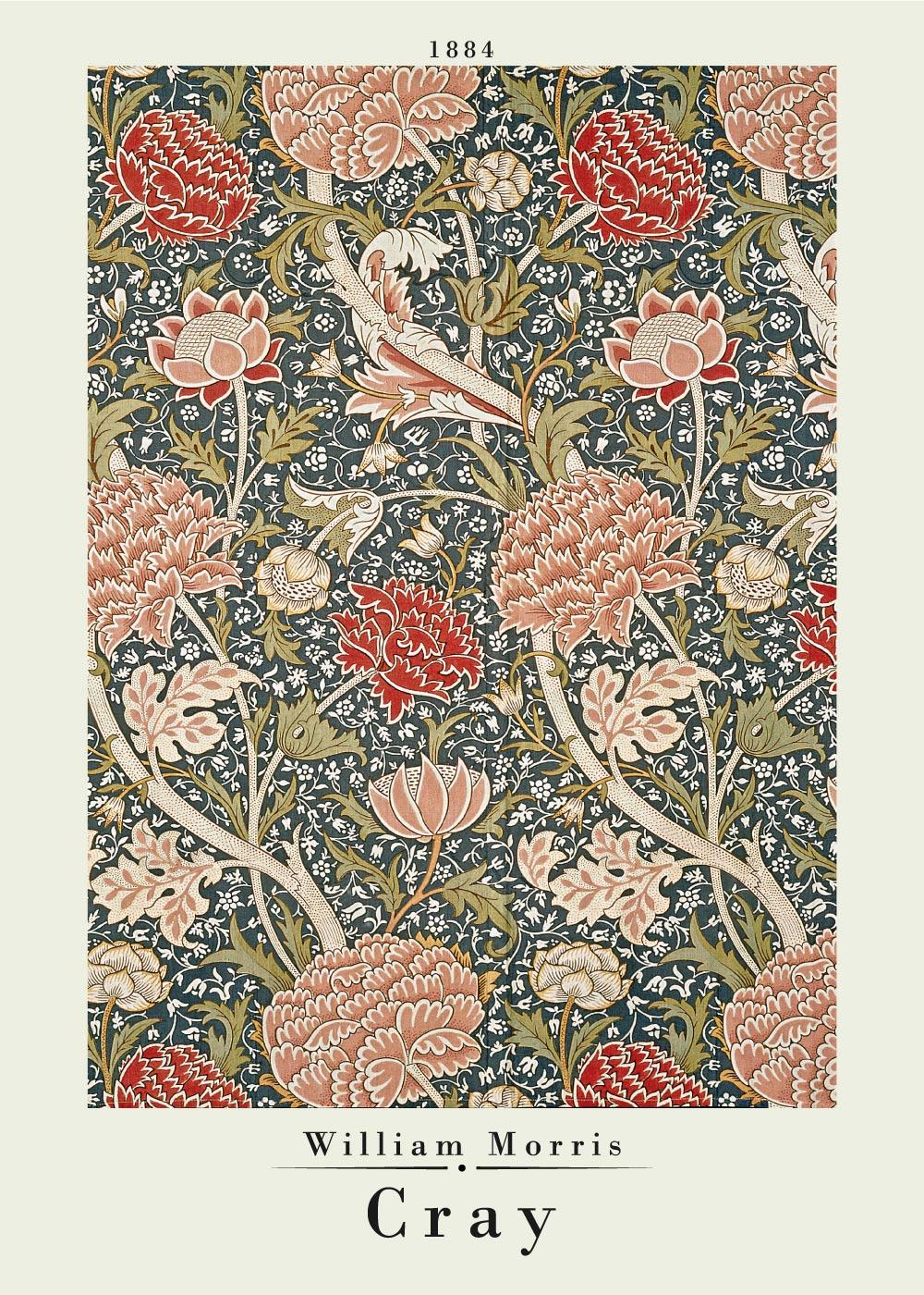 Billede af Cray - William Morris kunstplakat