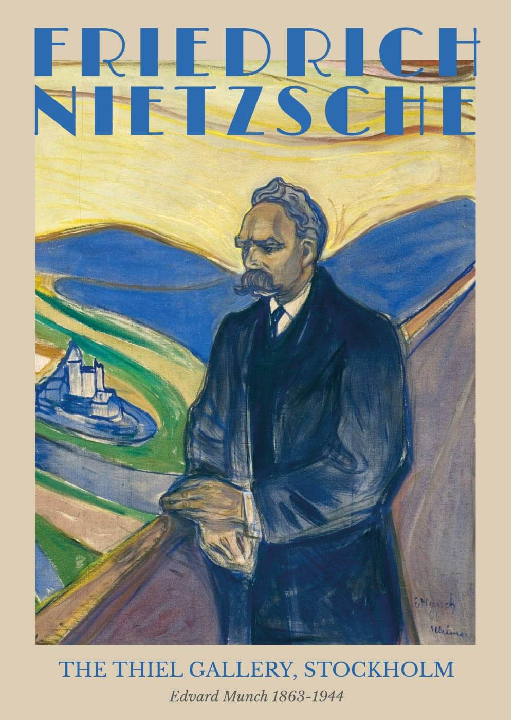 Billede af Friedrich Nietzsche - Edvard Munch