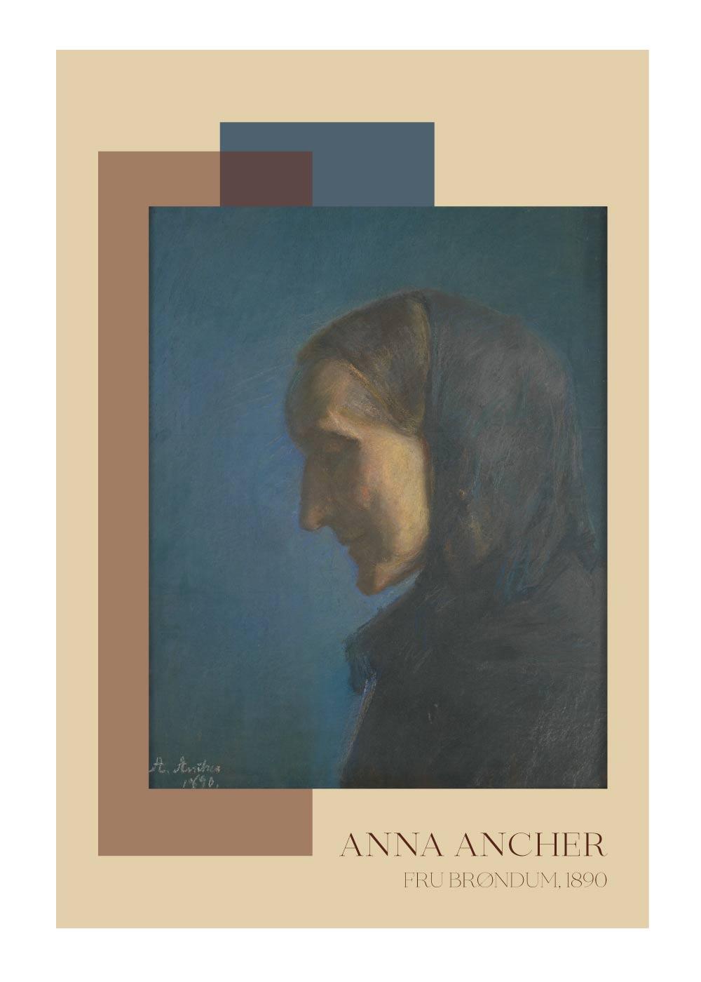 Billede af Fru Brøndum - Anna Ancher plakat