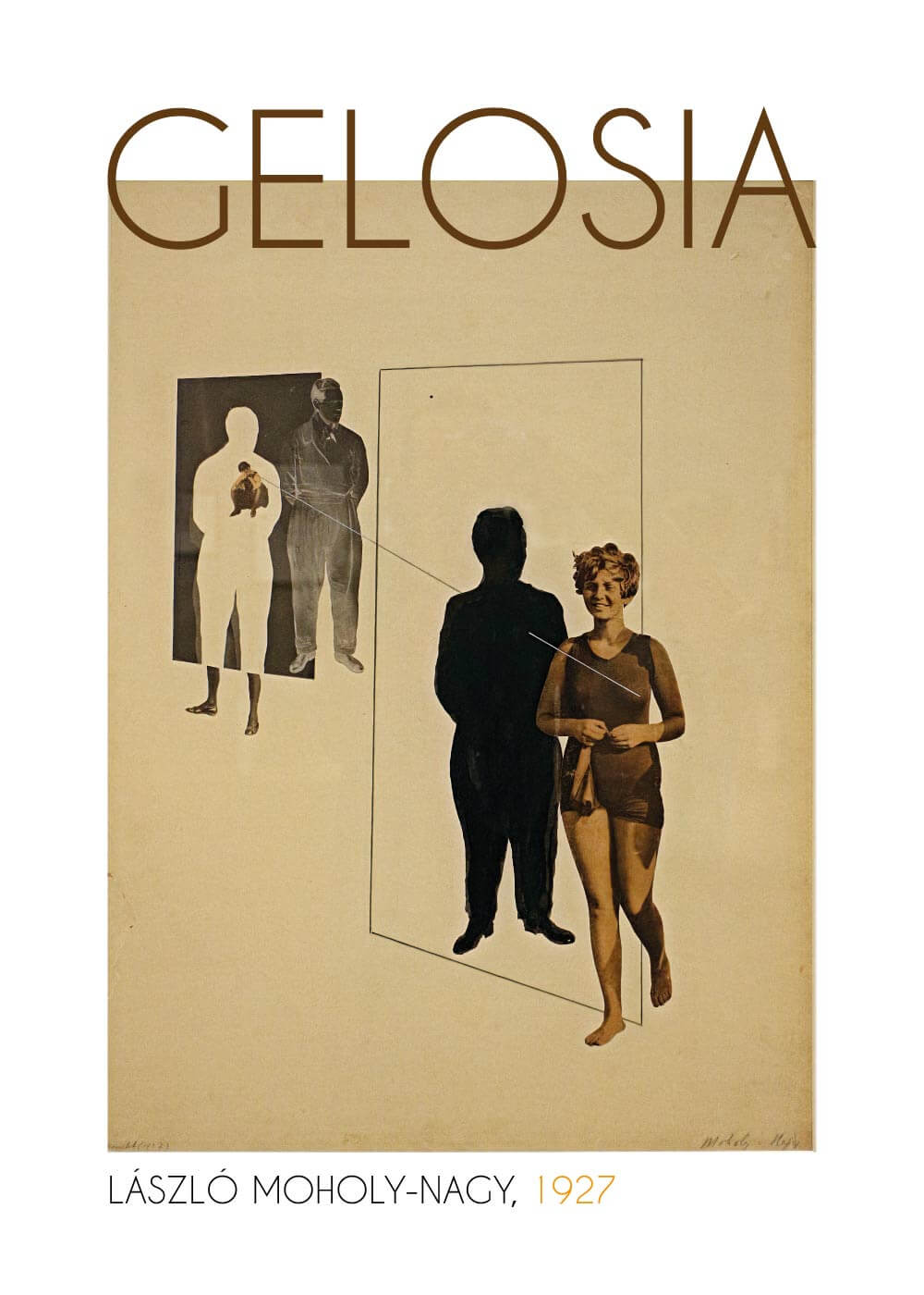 Billede af Gelosia - László Moholy-Nagy kunstplakat