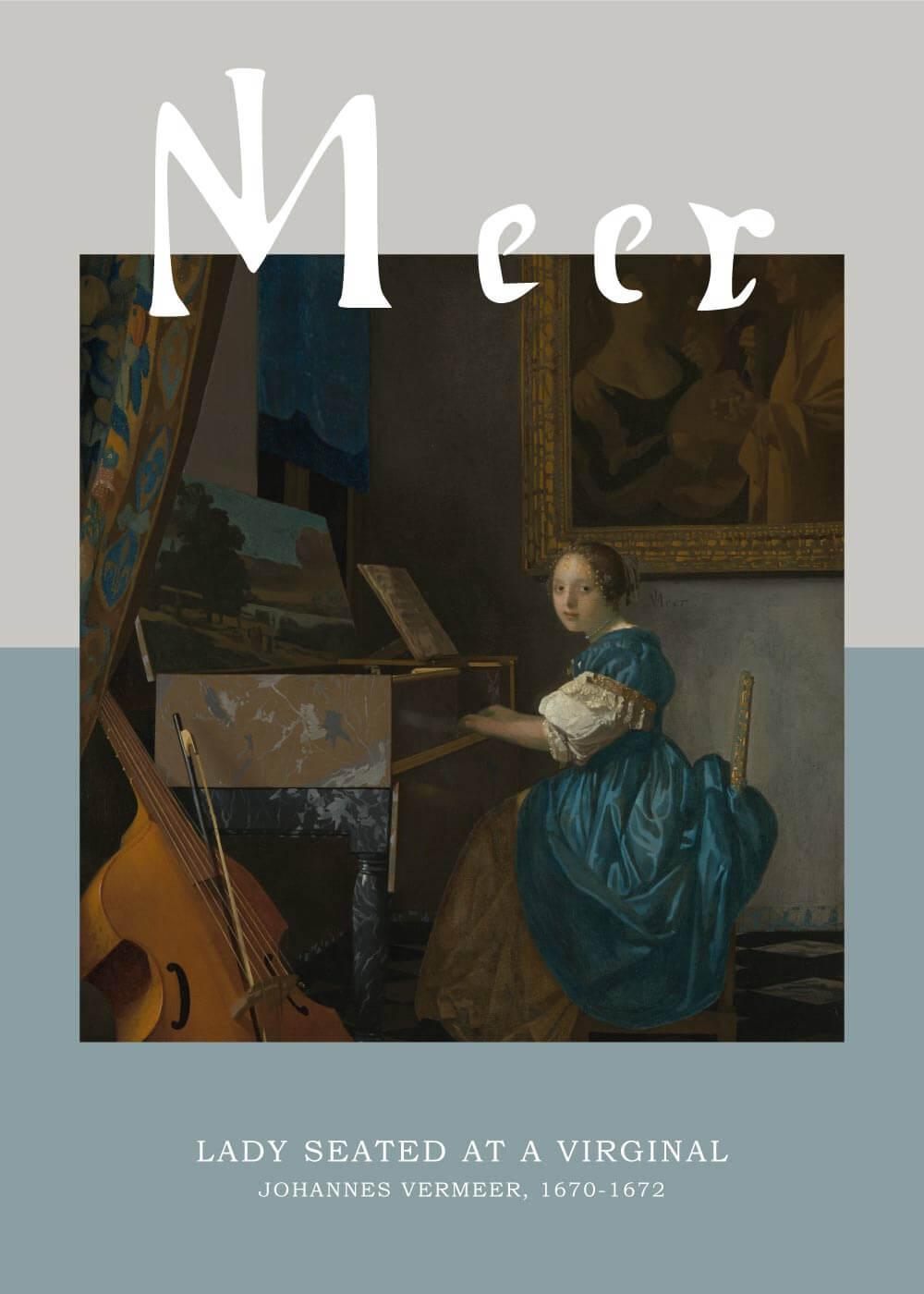 Billede af Lady Seated at a Virginal - Johannes Vermeer
