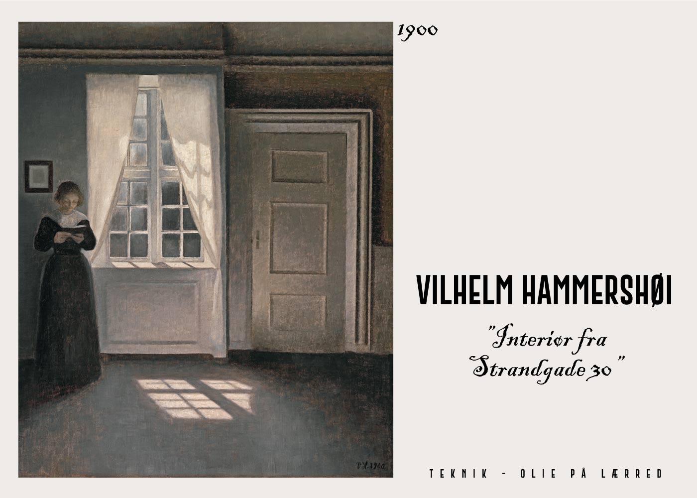 Interiør - Vilhelm Hammershøi Kunstplakat